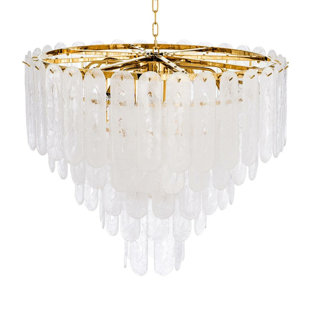Benedetto 5 Light Crystal Chandeliers Pertaining To Newest Riveria 14 Light Crystal Chandelier (View 15 of 25)