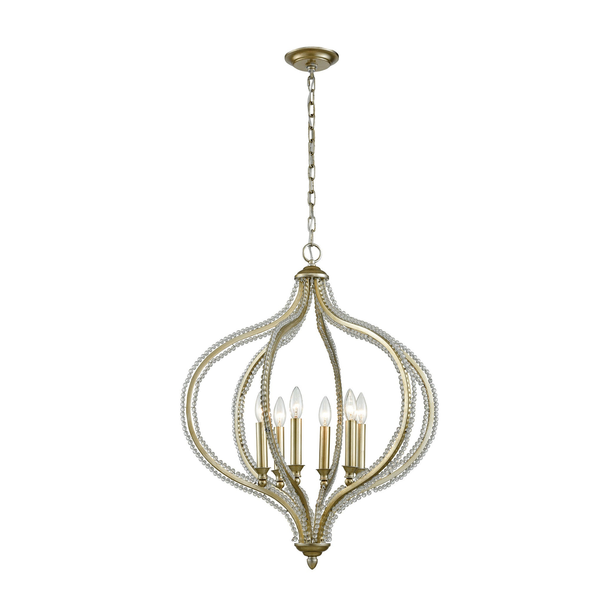 Bennington 6 Light Candle Style Chandeliers For Most Up To Date Bennington 6 Light Pendant, Aged Silver (View 20 of 25)
