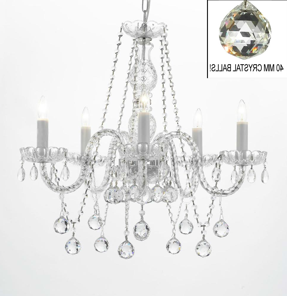 Berger 5-Light Candle Style Chandeliers intended for Latest Hoffman 5-Light Candle Style Chandelier