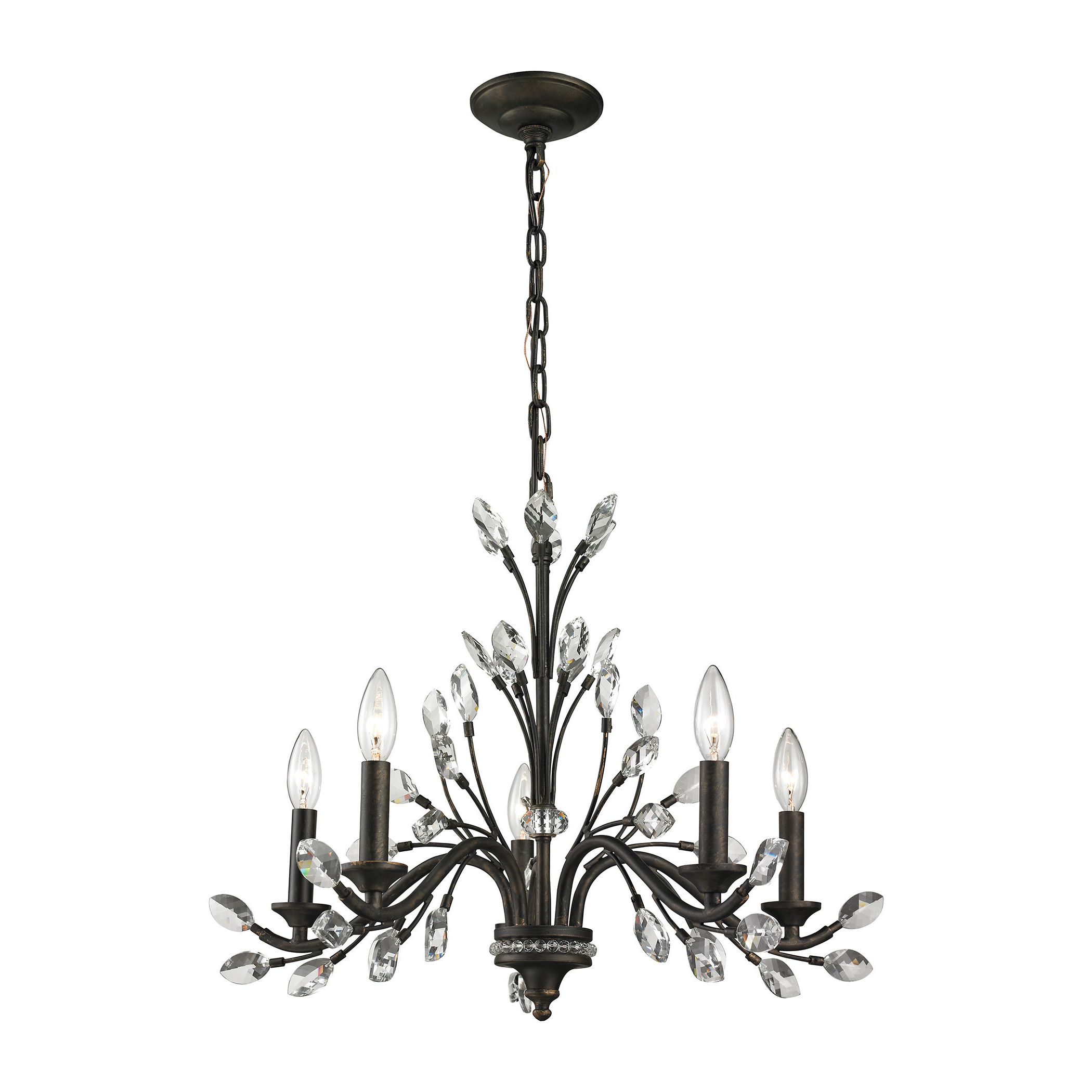 Berger 5-Light Candle Style Chandeliers throughout Well known Hammel 5-Light Candle Style Chandelier