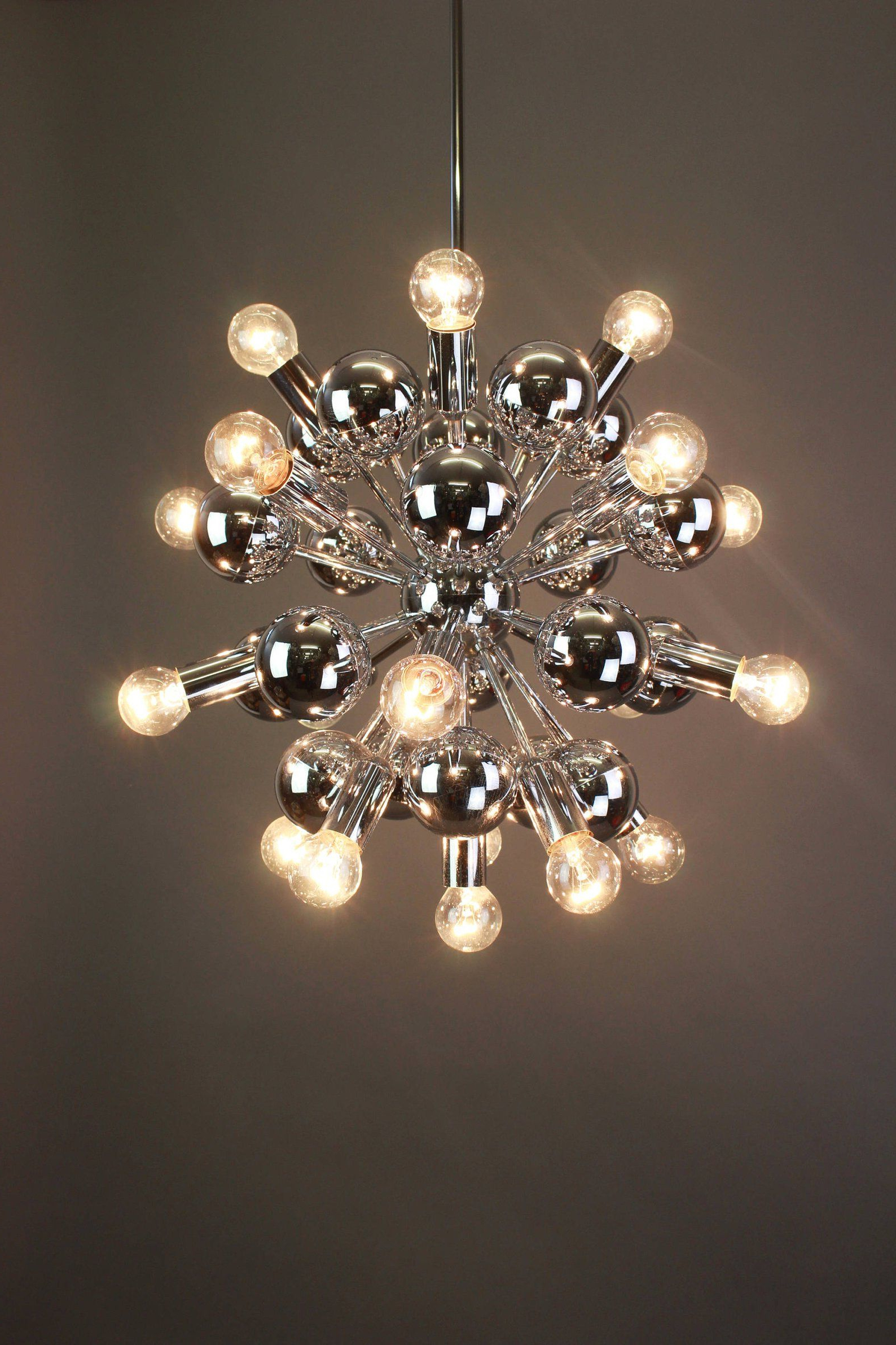 Best and Newest Asher 12-Light Sputnik Chandeliers in Large Chrome Vintage Sputnik Chandeliercosack Germany