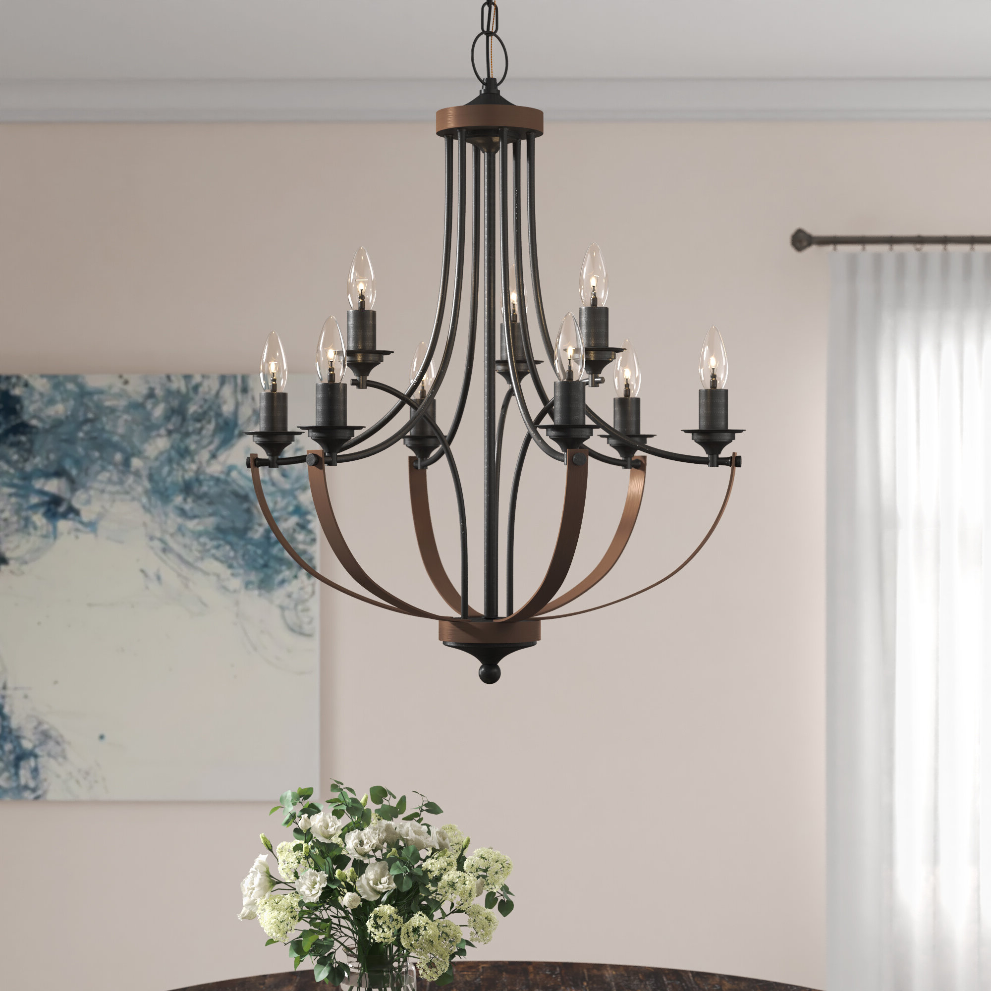 Best and Newest Bennington 4-Light Candle Style Chandeliers throughout Camilla 9-Light Candle Style Chandelier