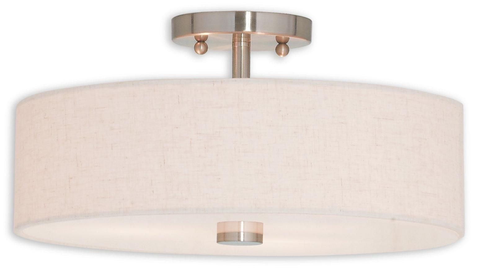 Best and Newest Burslem 3-Light Single Drum Pendants with Alina 3-Light Semi Flush Mount