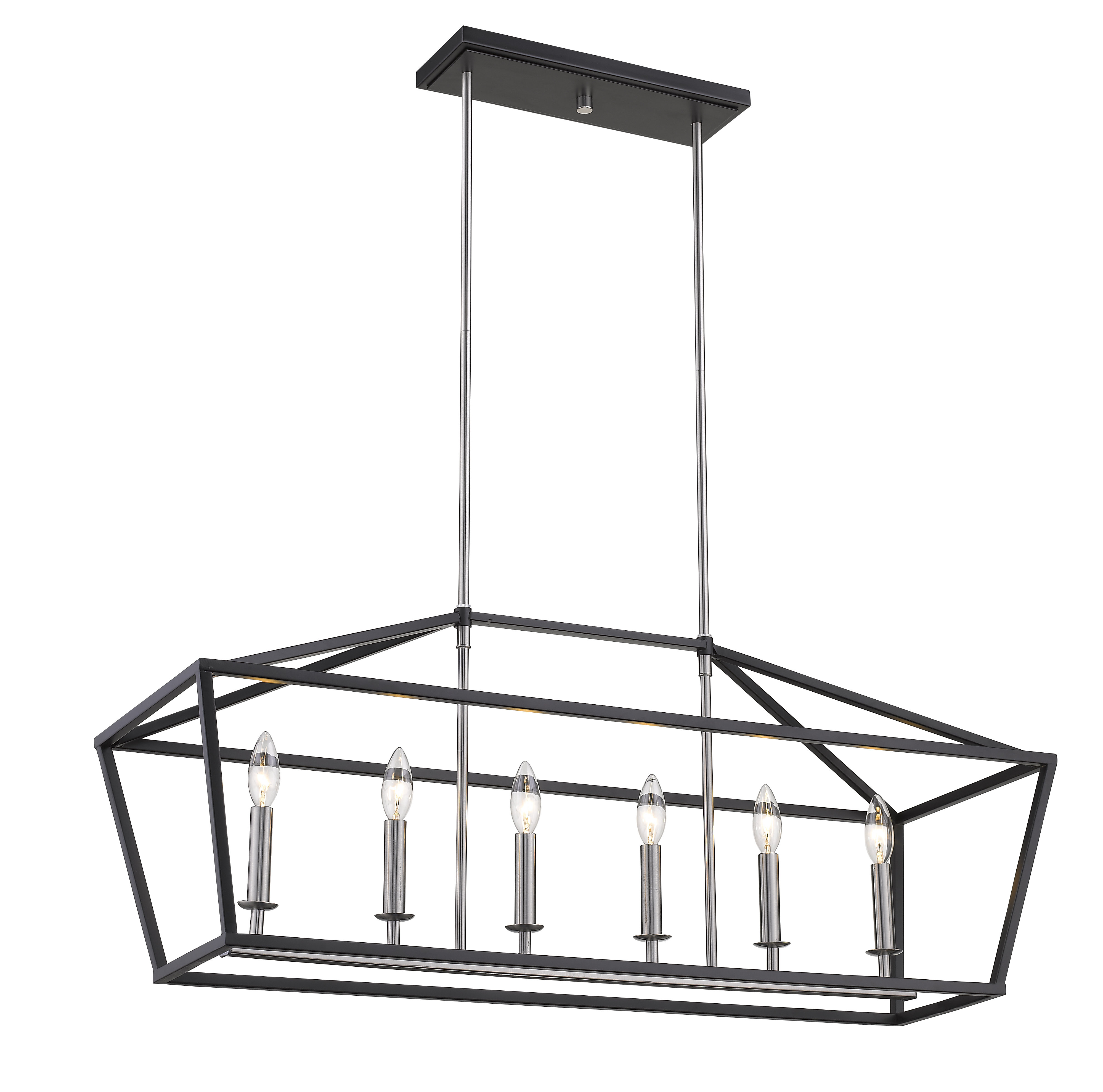Best And Newest Carmen 6 Light Kitchen Island Linear Pendants With Regard To Sinkler 6 Light Kitchen Island Pendant (View 7 of 25)