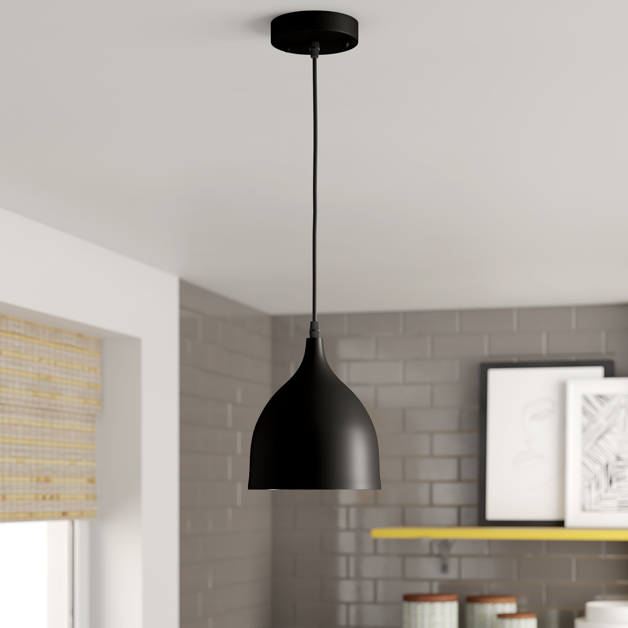 Best And Newest Conover 1 Light Dome Pendants Within Shameka 1 Light Single Cone Pendant (View 15 of 25)