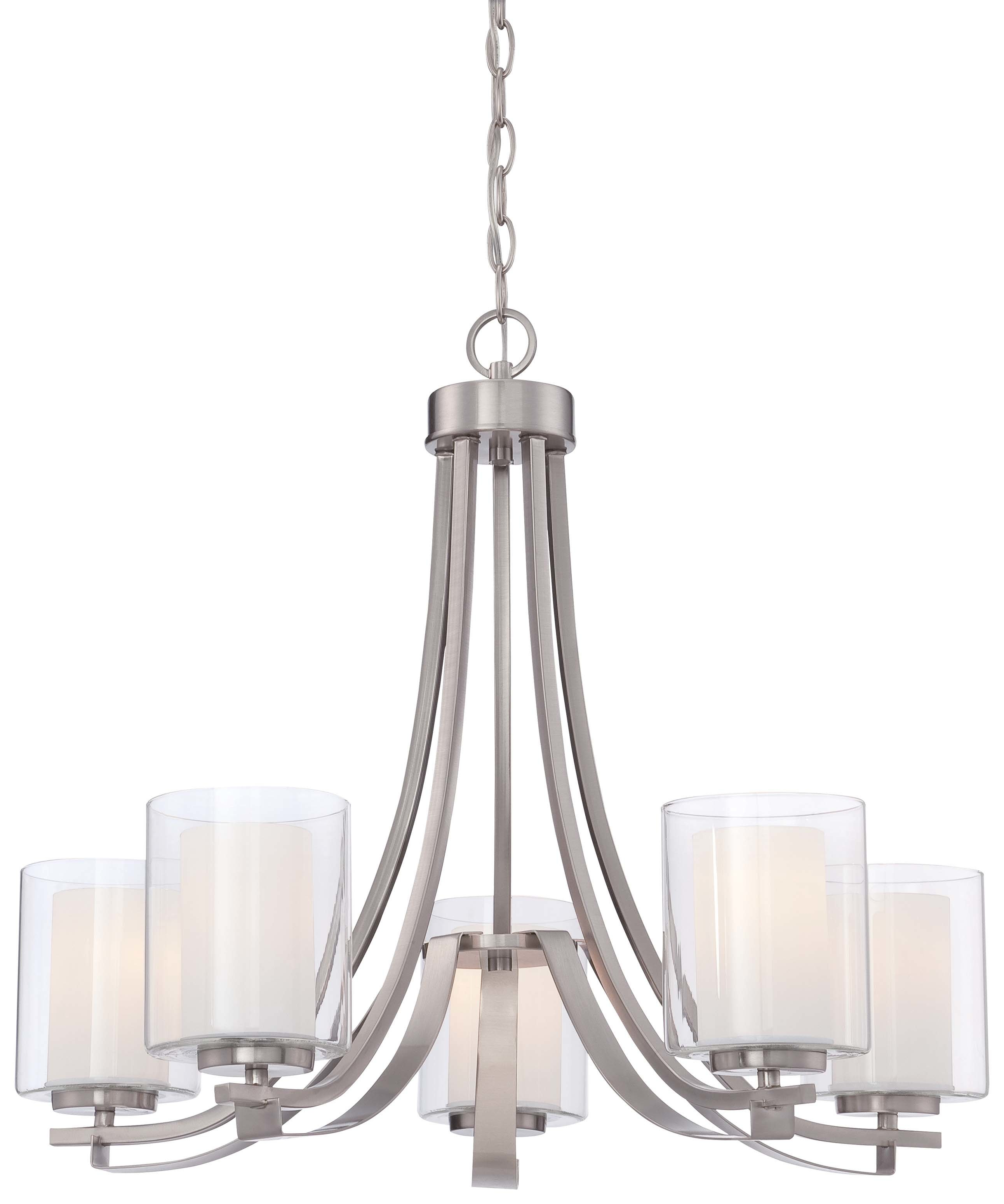 Best and Newest Crofoot 5-Light Shaded Chandeliers for Demby 5-Light Shaded Chandelier