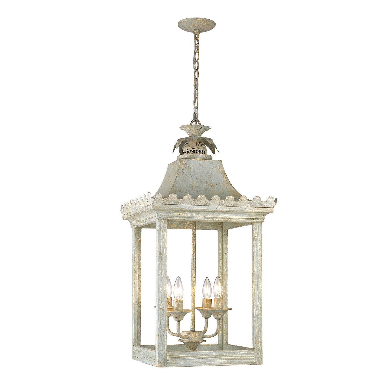 Best and Newest Destrey 3-Light Lantern Square/rectangle Pendants within Baucom 4-Light Lantern Square / Rectangle Pendant