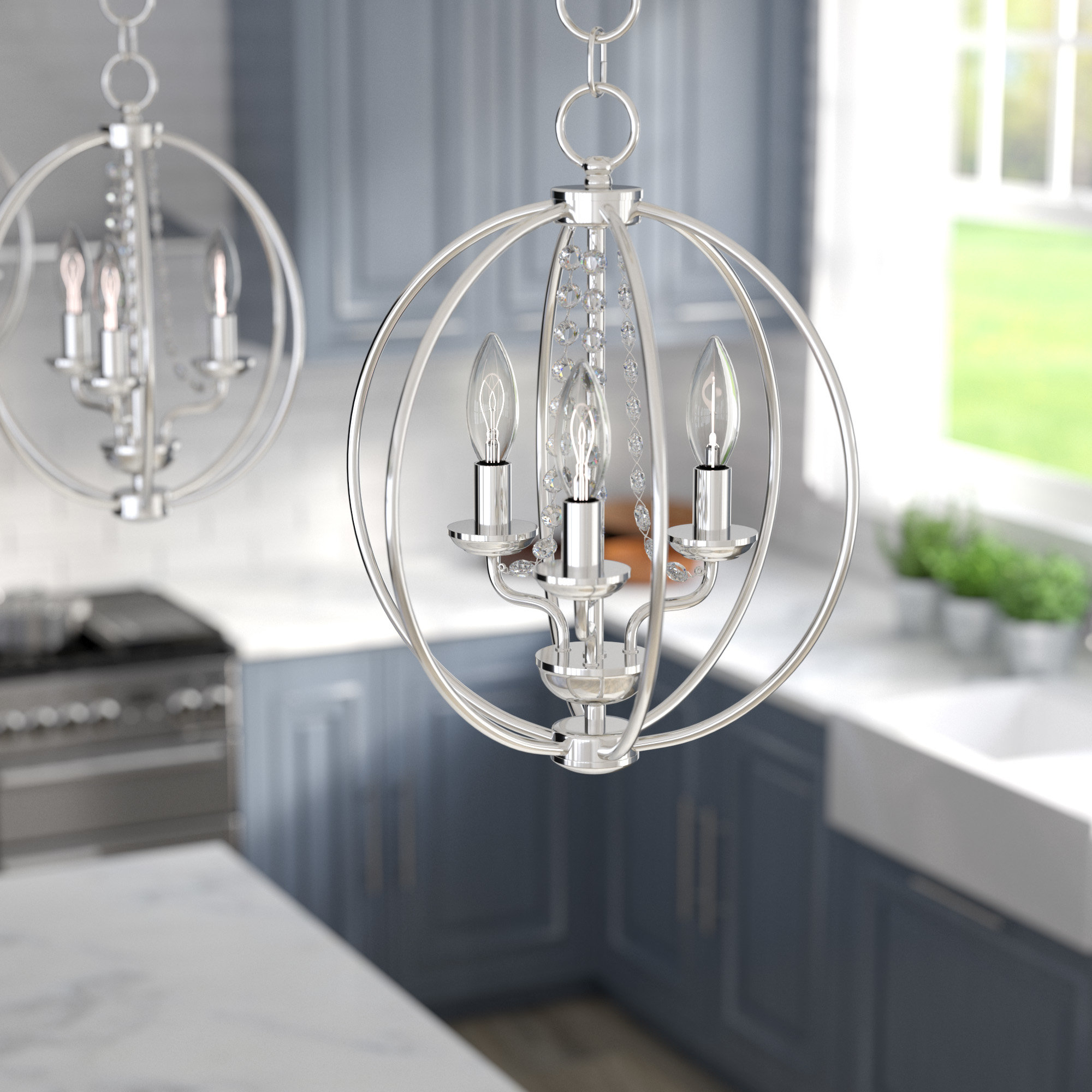 Best And Newest Dirksen 3 Light Single Cylinder Chandeliers Pertaining To Artus 3 Light Globe Chandelier (View 7 of 25)