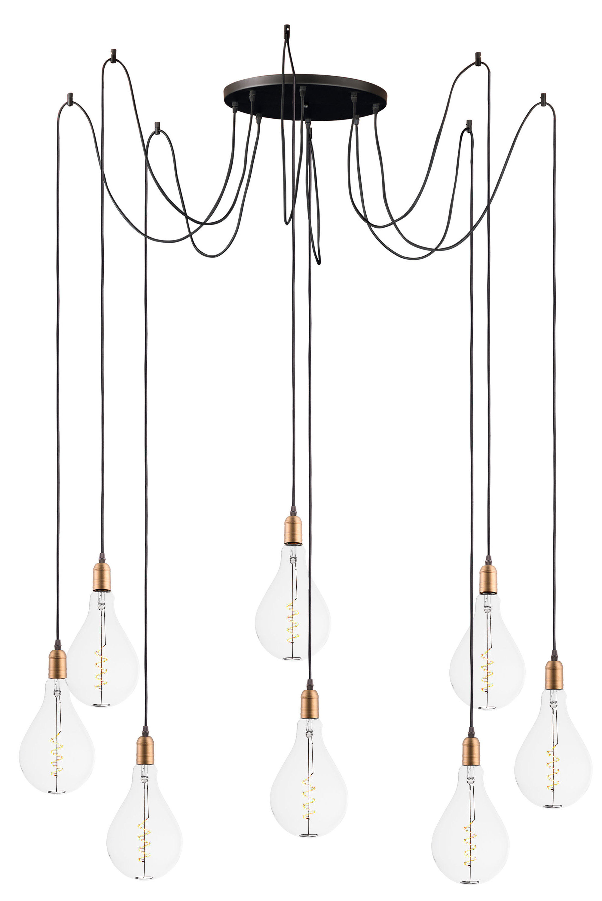 Best And Newest Edgardo 8 Light Cluster Pendant Within Gattilier 3 Light Cluster Pendants (View 3 of 25)