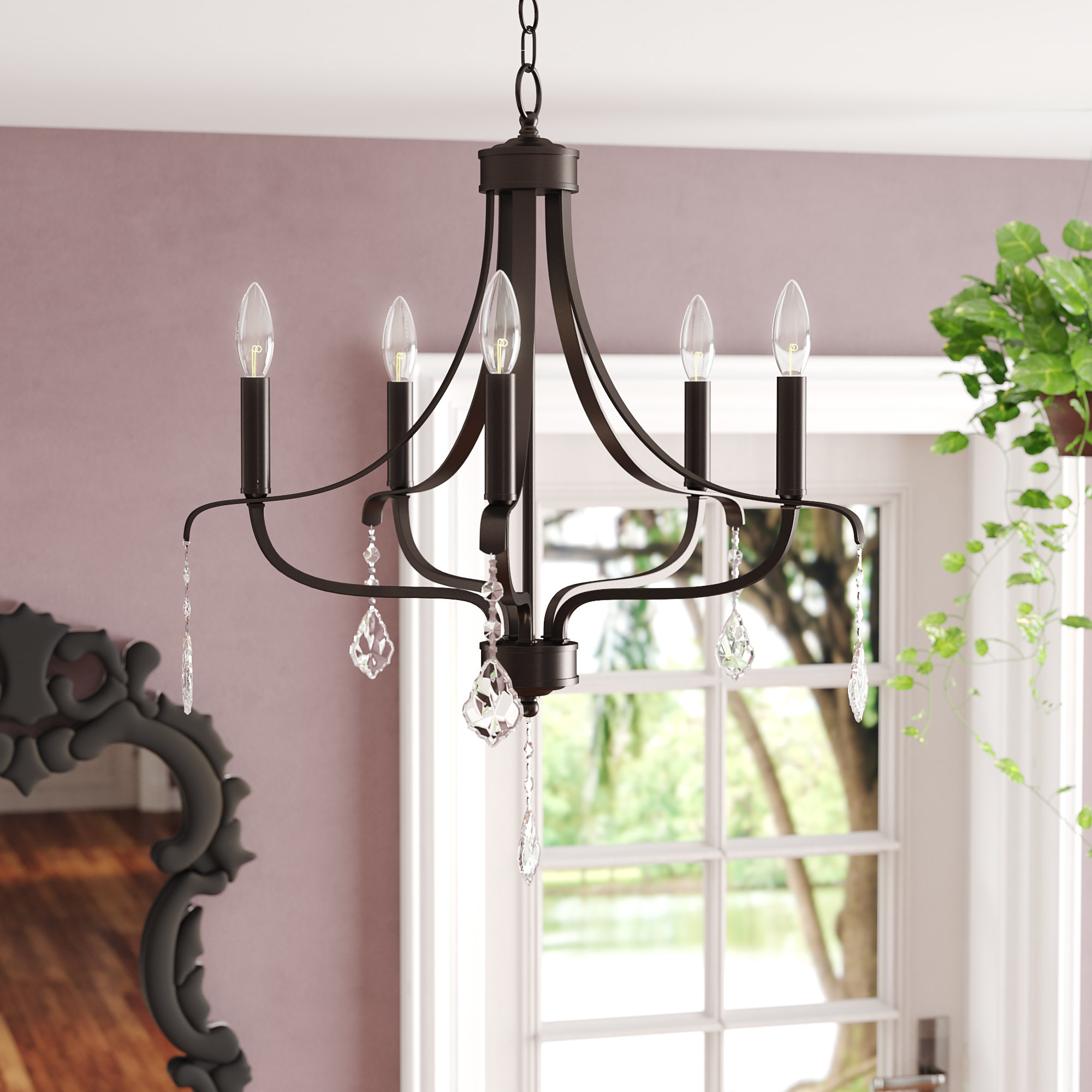 Best and Newest Etienne 5-Light Chandelier for Kenna 5-Light Empire Chandeliers