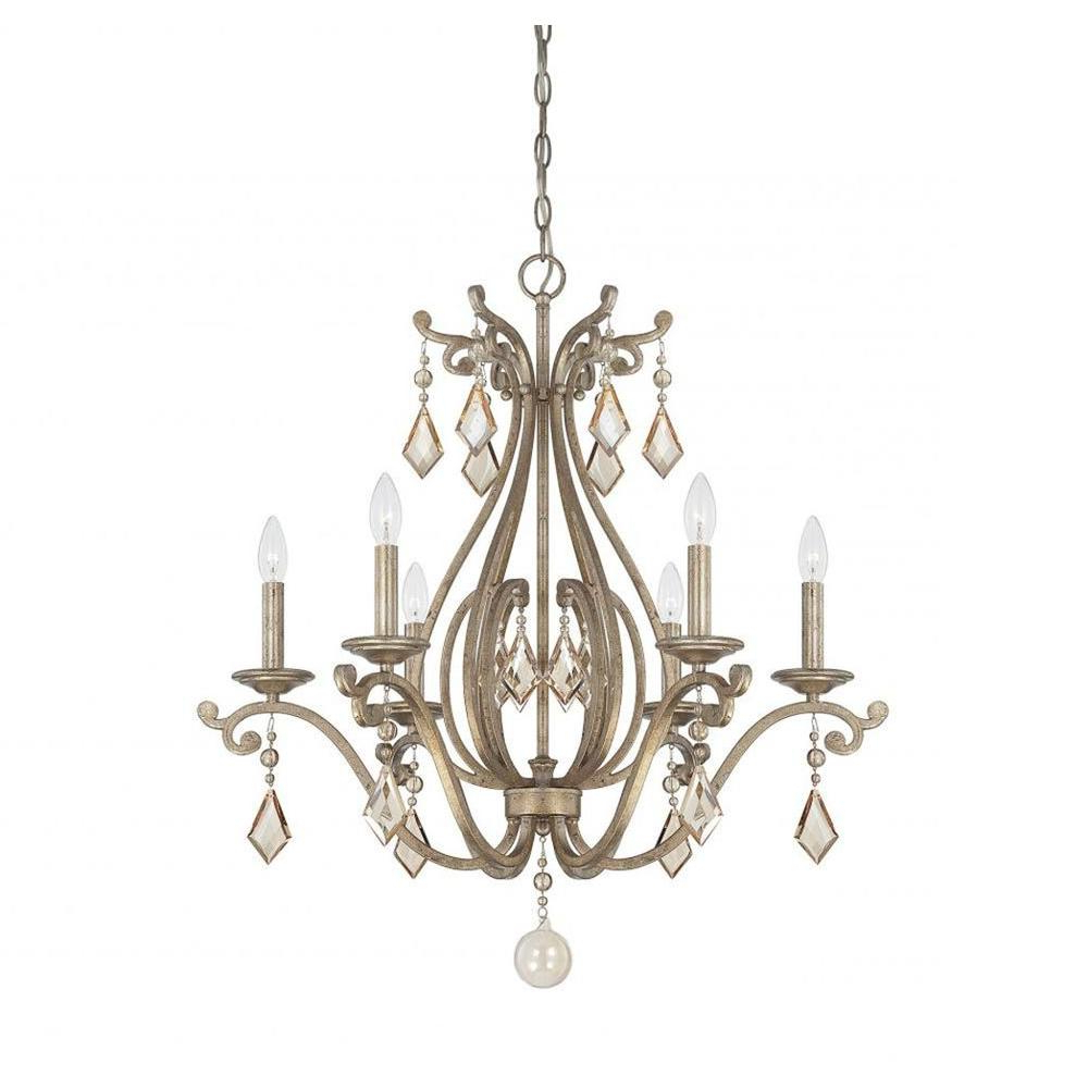 Best And Newest Filament Design Hermione 6 Light Oxidized Silver Chandelier Pertaining To Hermione 5 Light Drum Chandeliers (View 19 of 25)