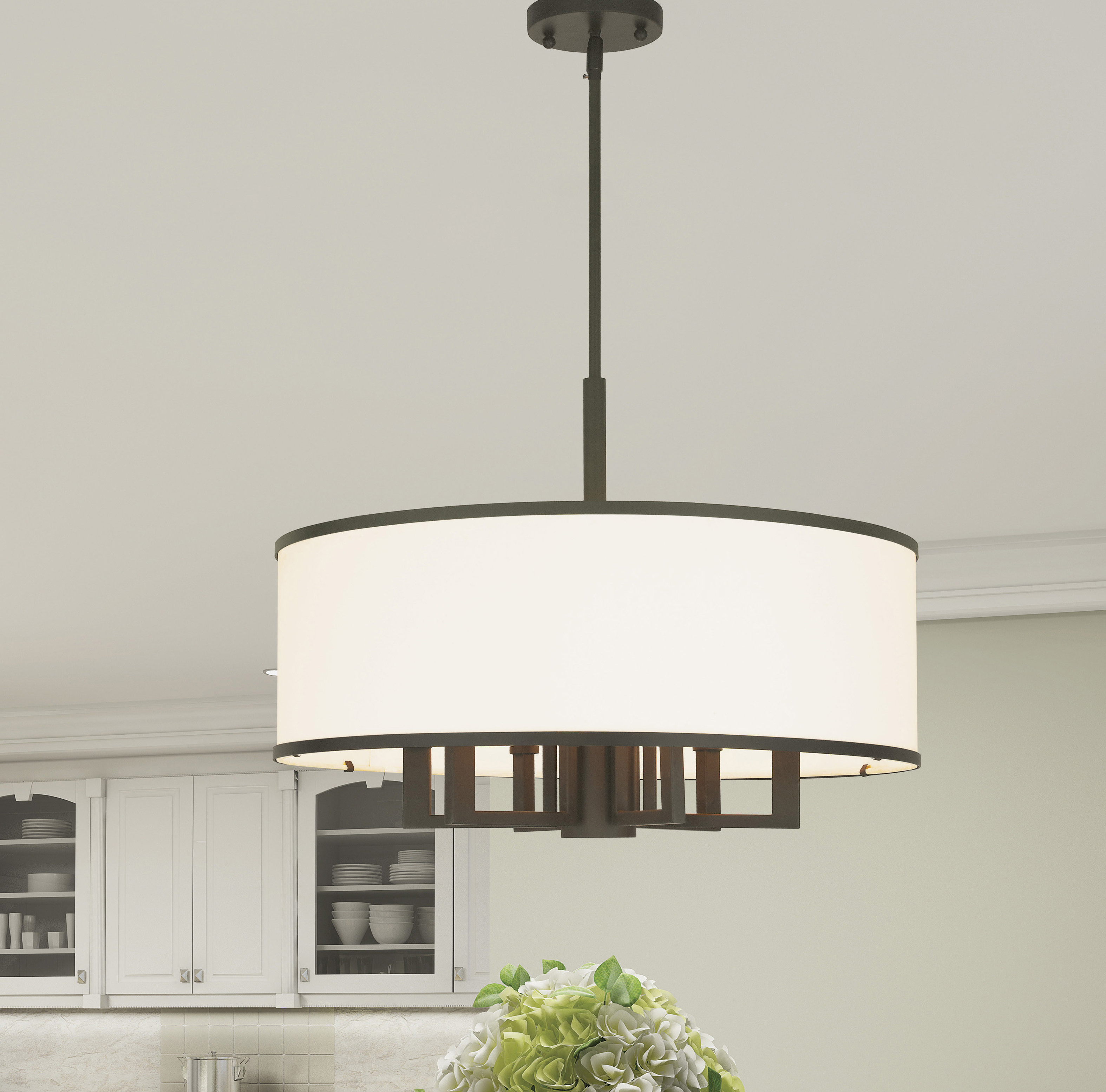 Best And Newest Friedland 3 Light Drum Tiered Pendants Pertaining To Breithaup 7 Light Drum Chandelier (View 19 of 25)