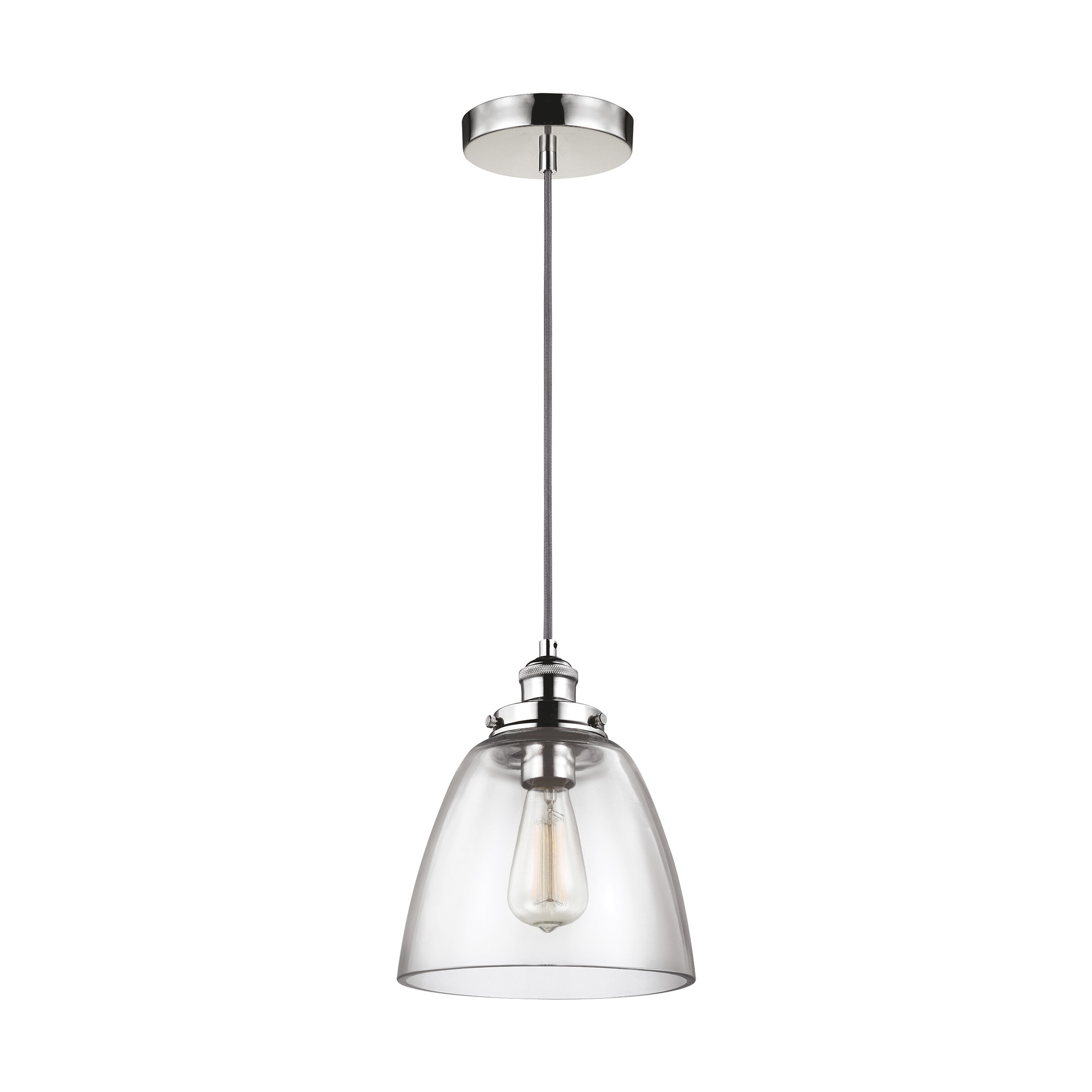 Best and Newest Goldie 1-Light Single Bell Pendants with Bedford 1-Light Single Cone Pendant