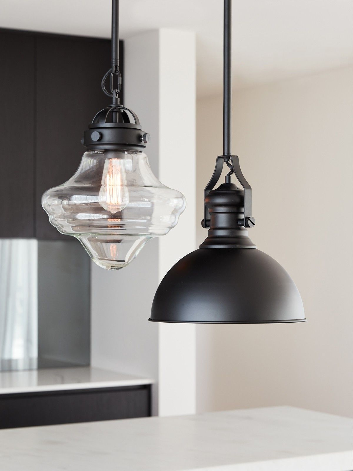 Best and Newest Hamilton 1 Light Pendant In Black