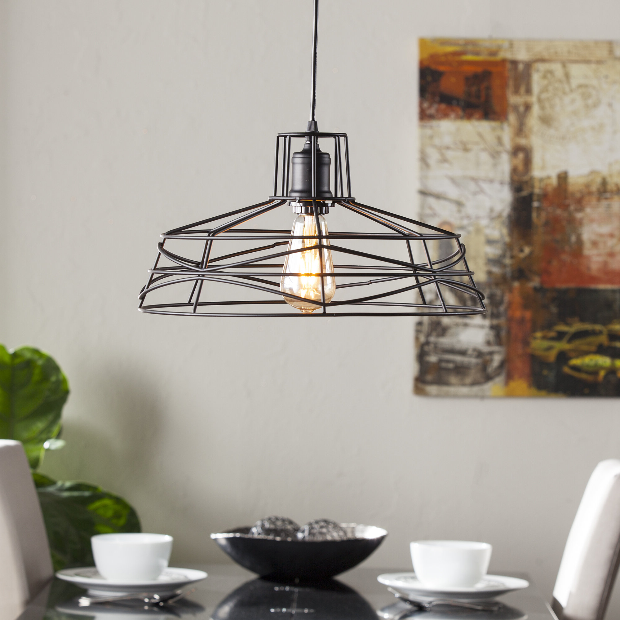 Best And Newest Hydetown 1 Light Single Geometric Pendants For Mercury Row Bressler 1 Light Lantern Pendant (View 3 of 25)