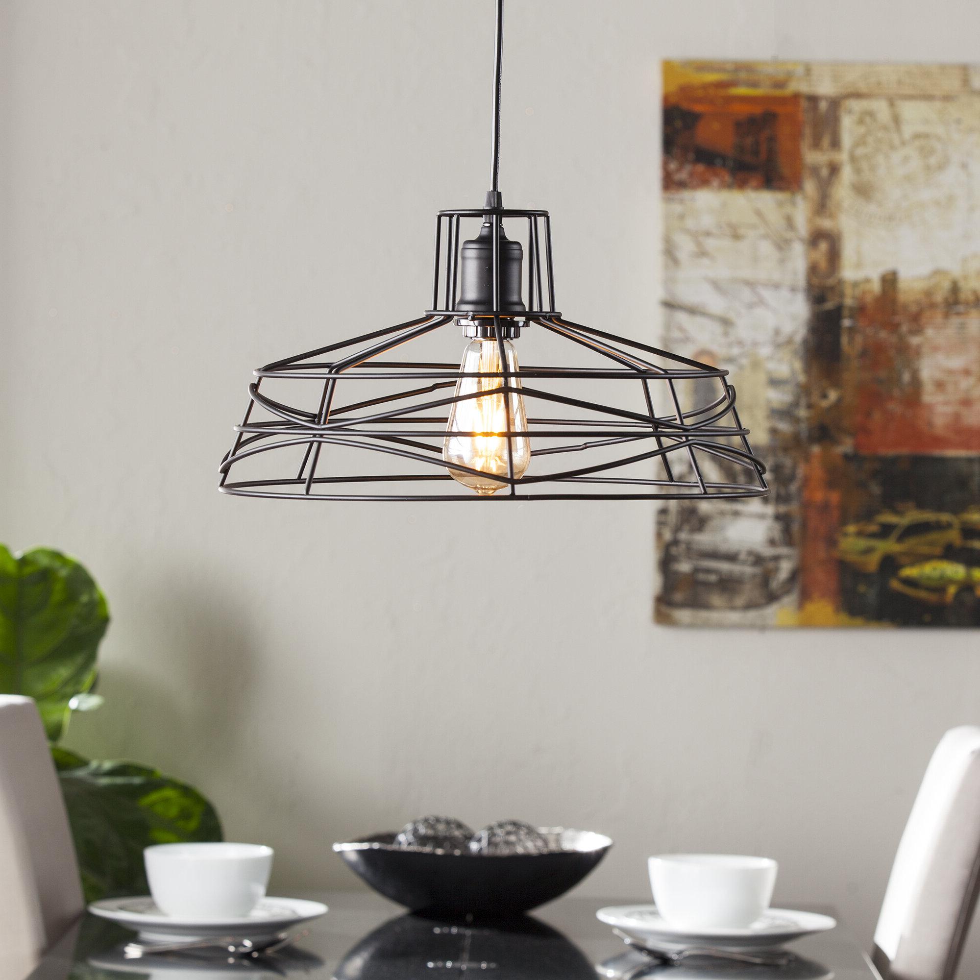 Best And Newest Hydetown 1 Light Single Geometric Pendants For Mercury Row Bressler 1 Light Lantern Pendant (View 14 of 25)