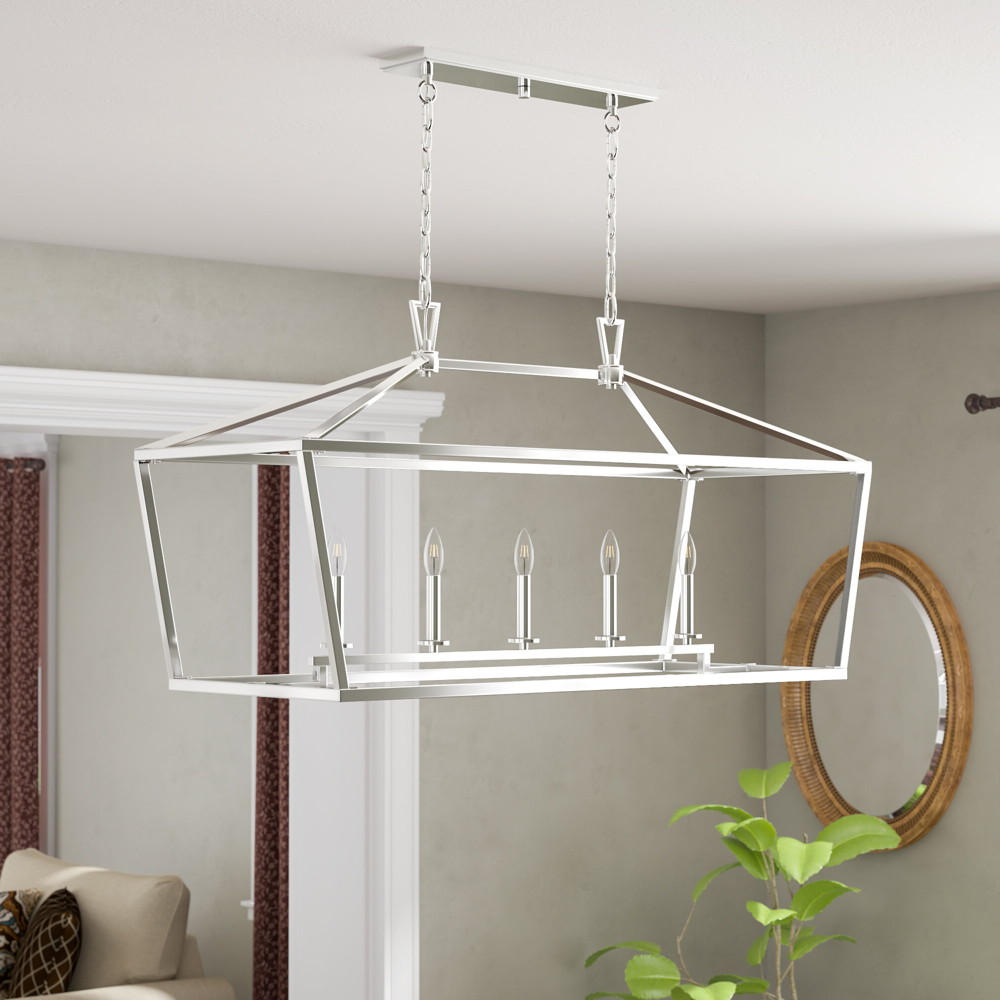Best And Newest Israel 5 Light Kitchen Island Linear Pendant Pertaining To Hinerman 5 Light Kitchen Island Pendants (View 15 of 25)