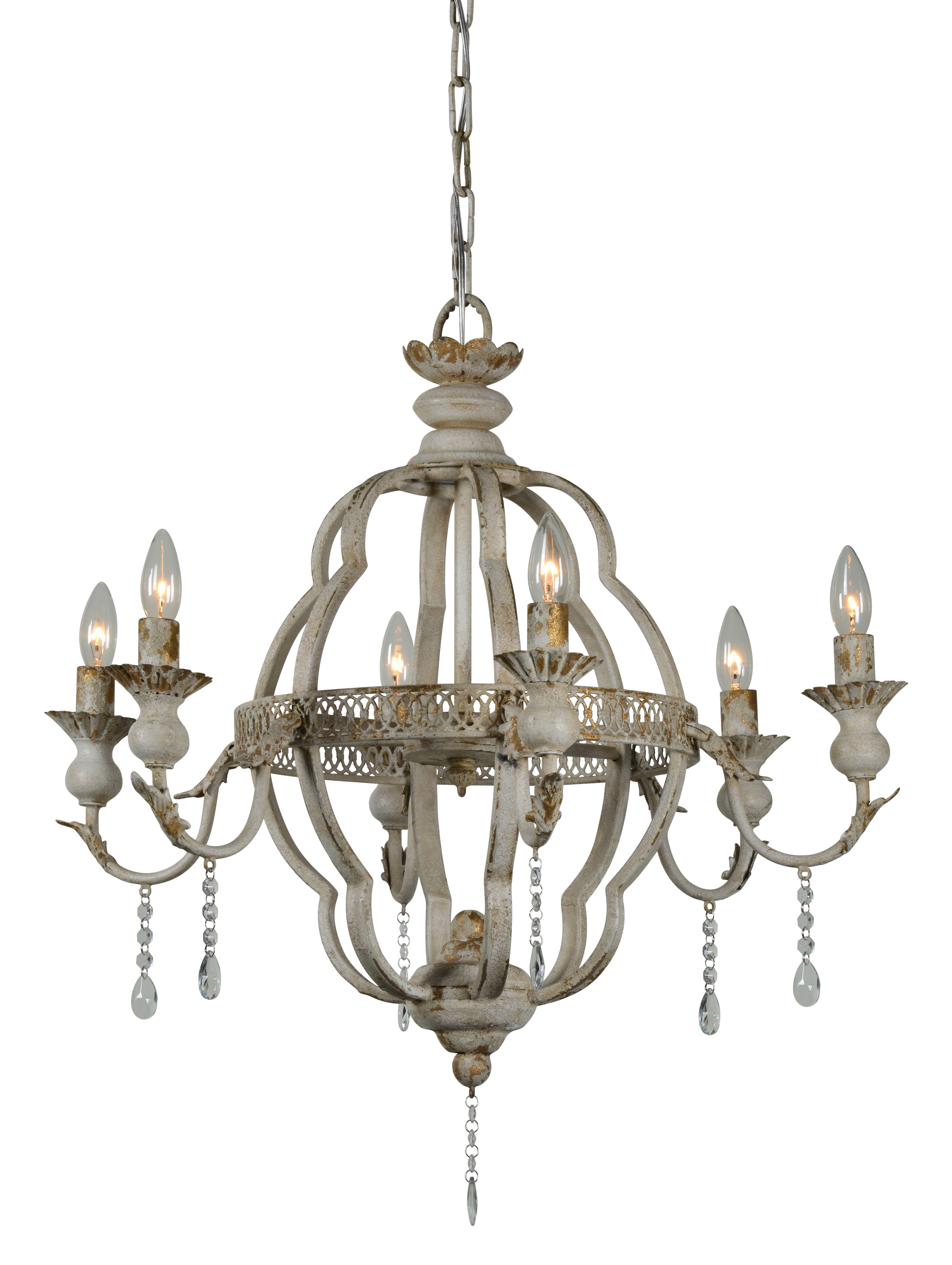 Best And Newest Lisa 6 Light Candle Style Chandelier Throughout Shaylee 6 Light Candle Style Chandeliers (View 18 of 25)