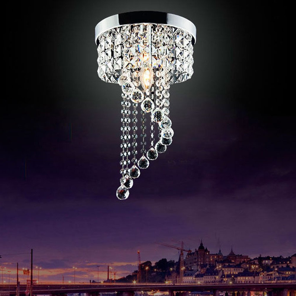 Best And Newest Modern Led Bulb Ceiling Light Pendant Fixture Lighting Crystal Chandelier In Sinead 4 Light Chandeliers (View 4 of 25)