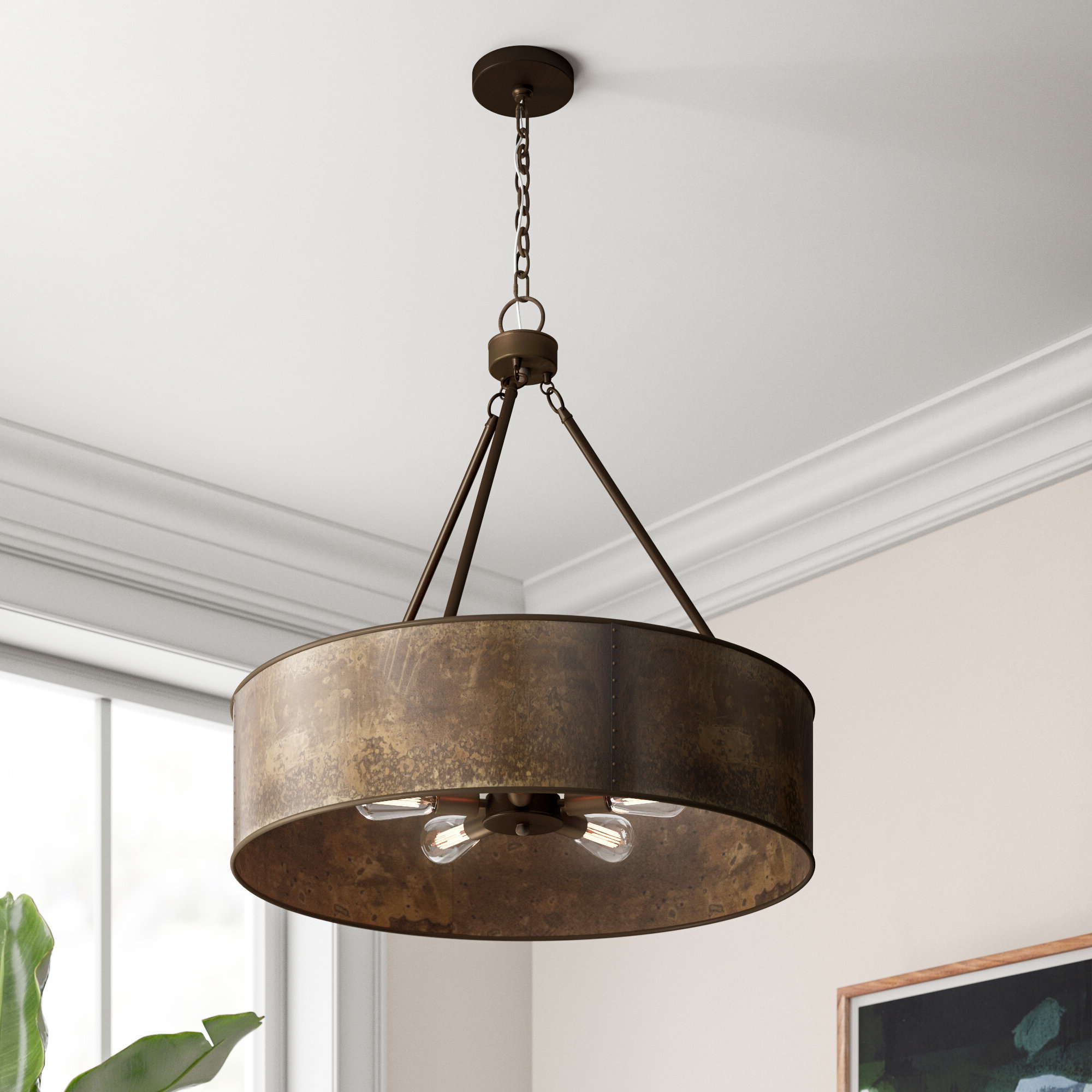 Best and Newest Montes 3-Light Drum Chandeliers with Vincent 5-Light Drum Chandelier & Reviews