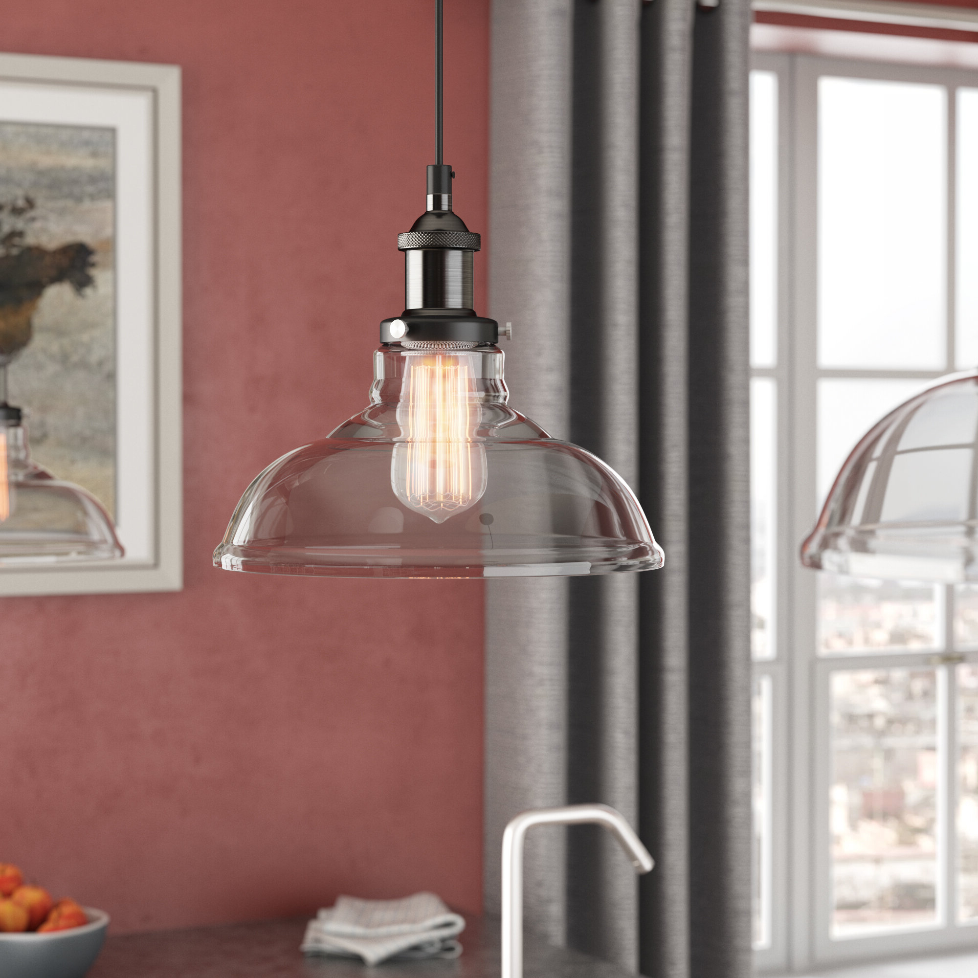 Best And Newest Newlyn 1 Light Dome Pendant For Fresno Dome 1 Light Bell Pendants (View 23 of 25)