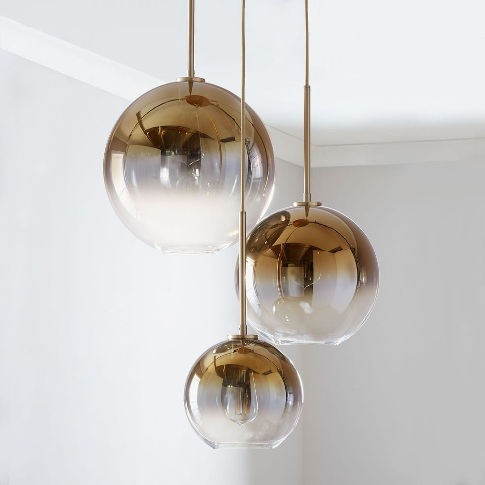 Best And Newest Sculptural Glass Globe 3 Light Chandelier – Mixed In 2018 For Filipe Globe Chandeliers (View 24 of 25)