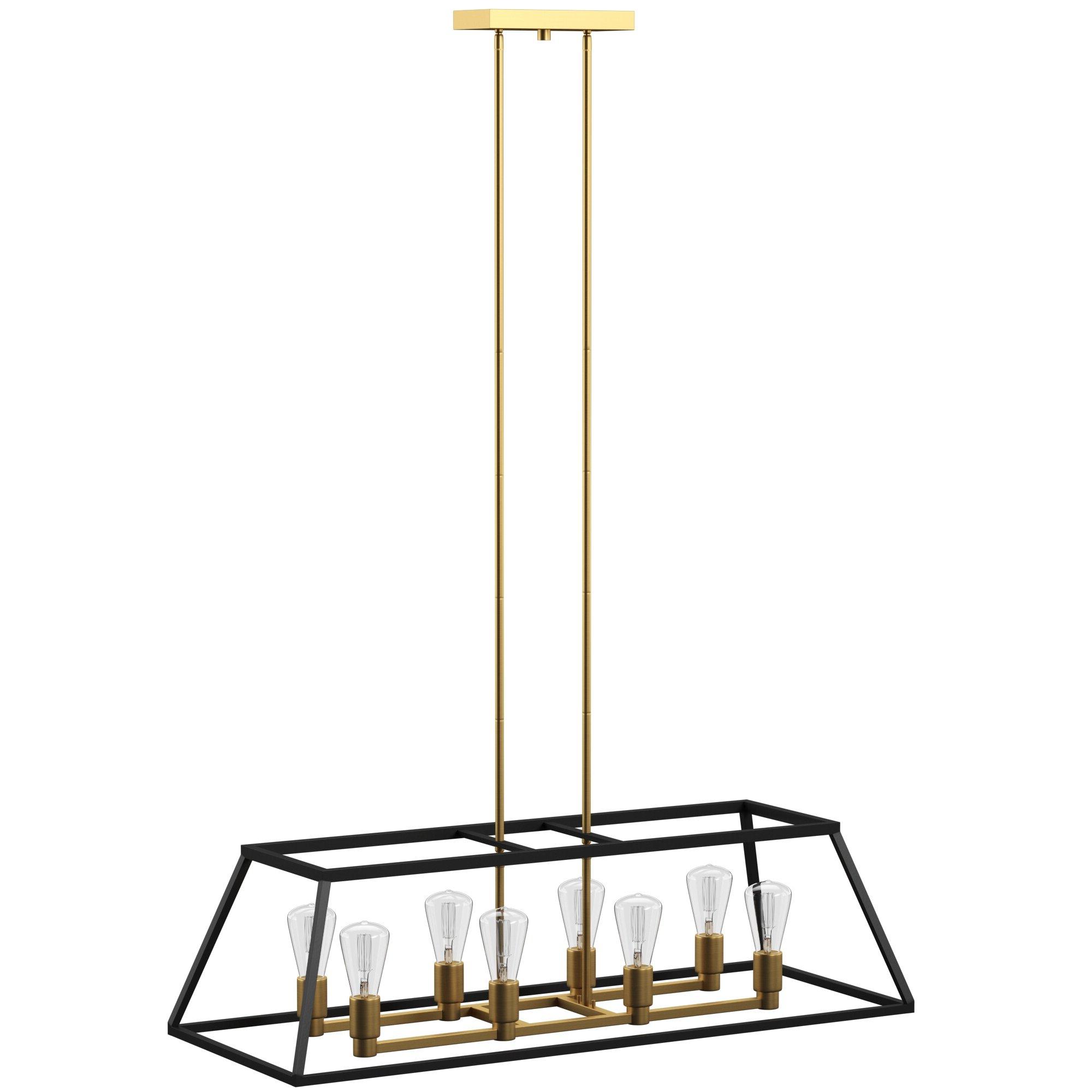 Best and Newest Shisler 8-Light Kitchen Island Linear Pendant pertaining to Sousa 4-Light Kitchen Island Linear Pendants