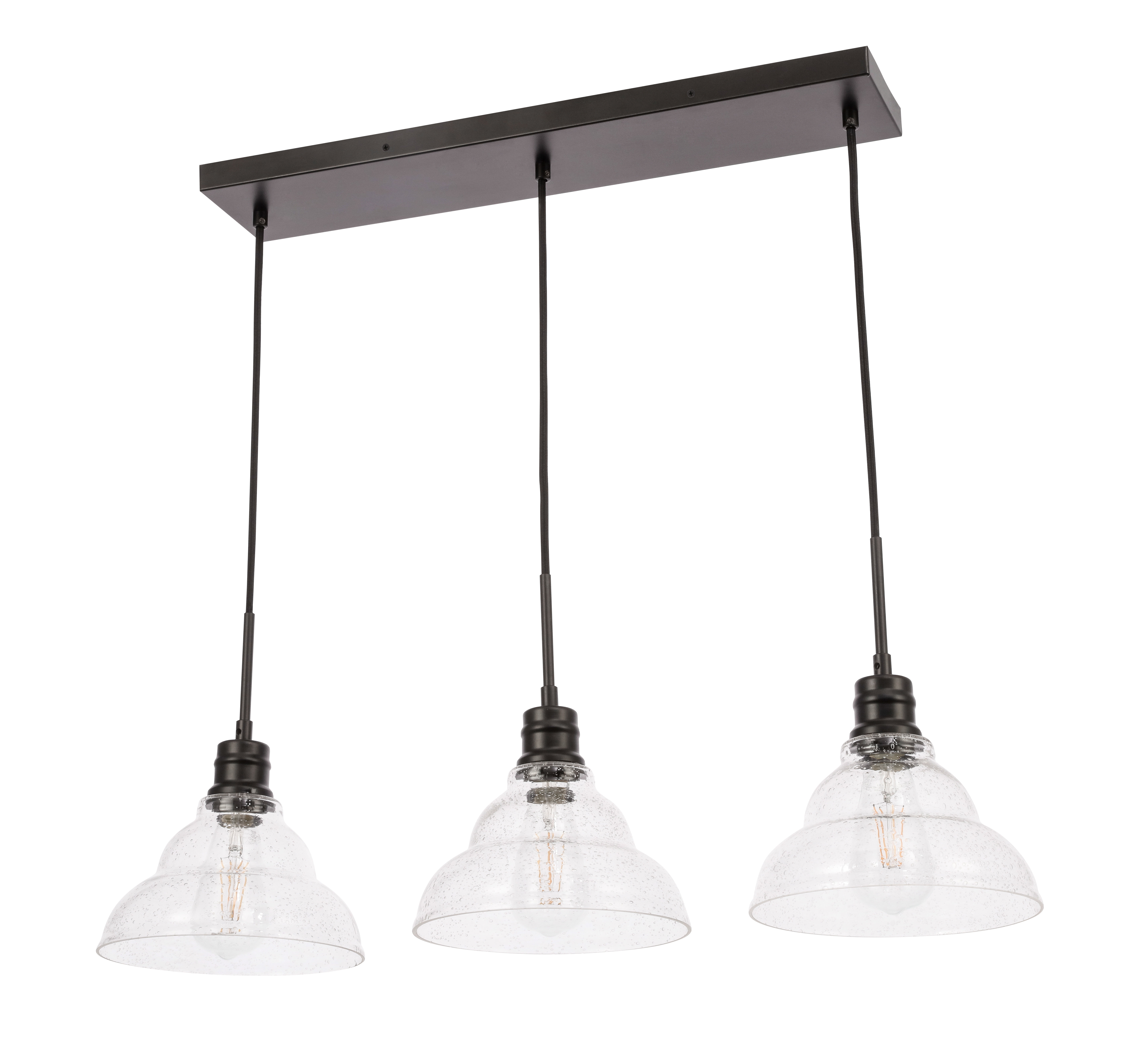 Best And Newest Shunk 3 Light Kitchen Island Pendant With Regard To Cinchring 4 Light Kitchen Island Linear Pendants (View 4 of 25)