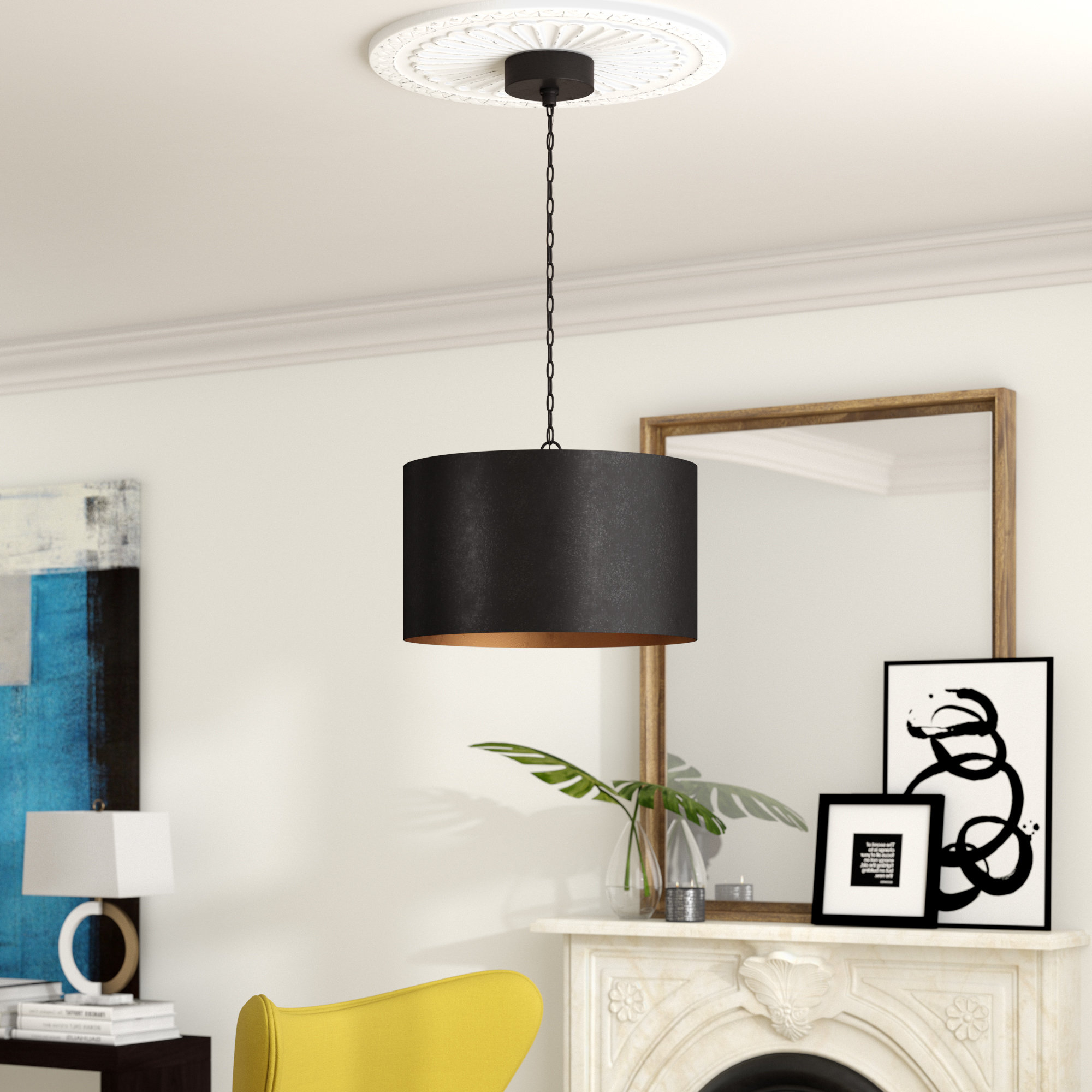 Best and Newest Tadwick 3-Light Single Drum Chandeliers intended for 3 Drum Chandeliers You'll Love In 2019