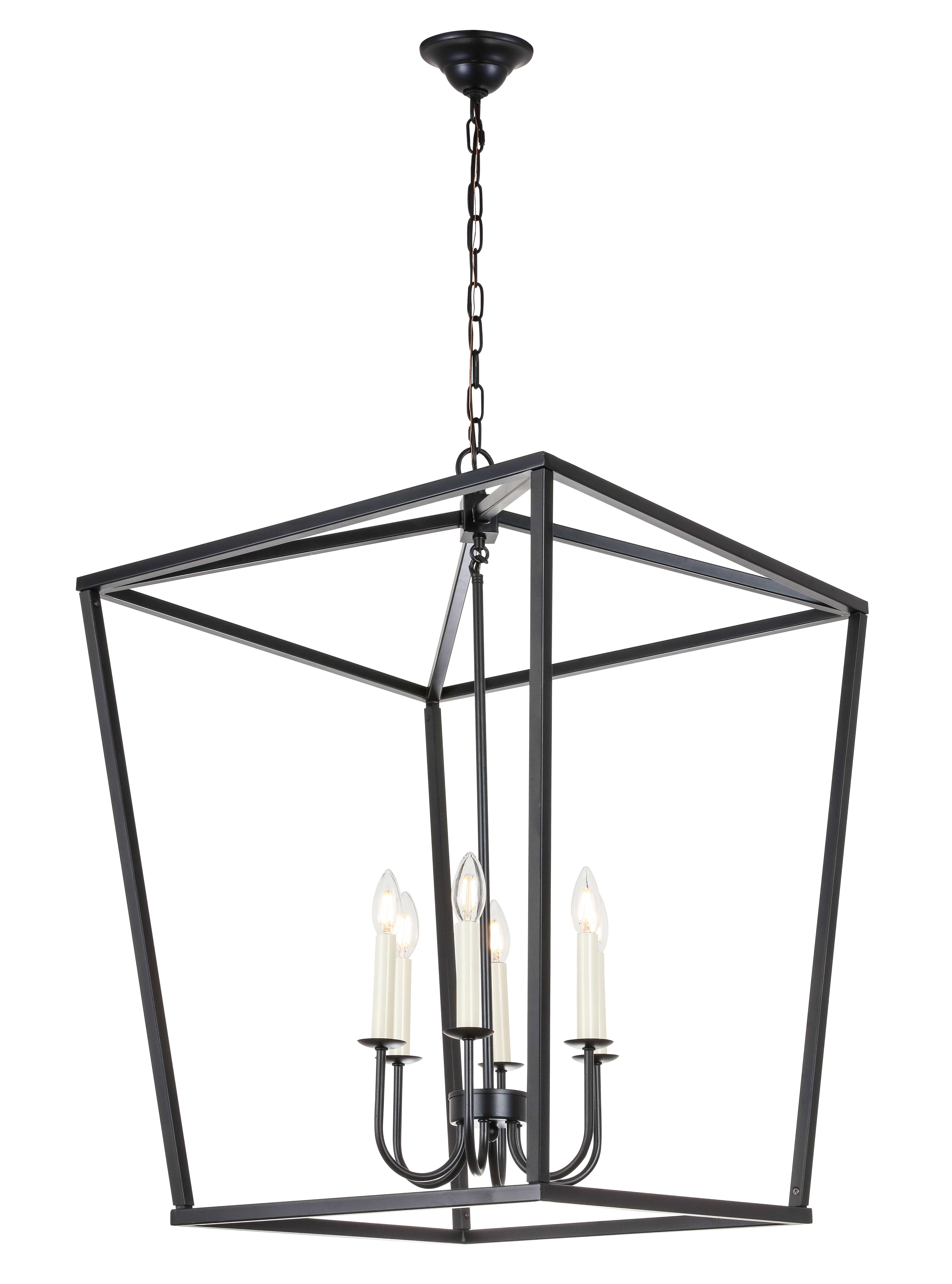 Best And Newest Tanguay 6 Light Lantern Pendant Throughout Carmen 6 Light Lantern Geometric Pendants (View 2 of 25)