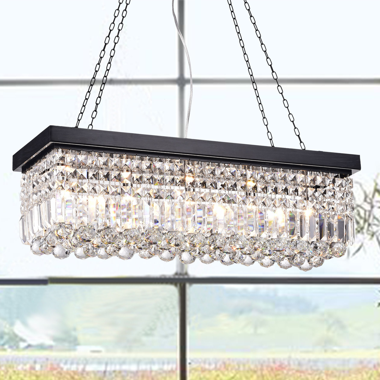Featured Photo of Verdell 5 Light Crystal Chandeliers
