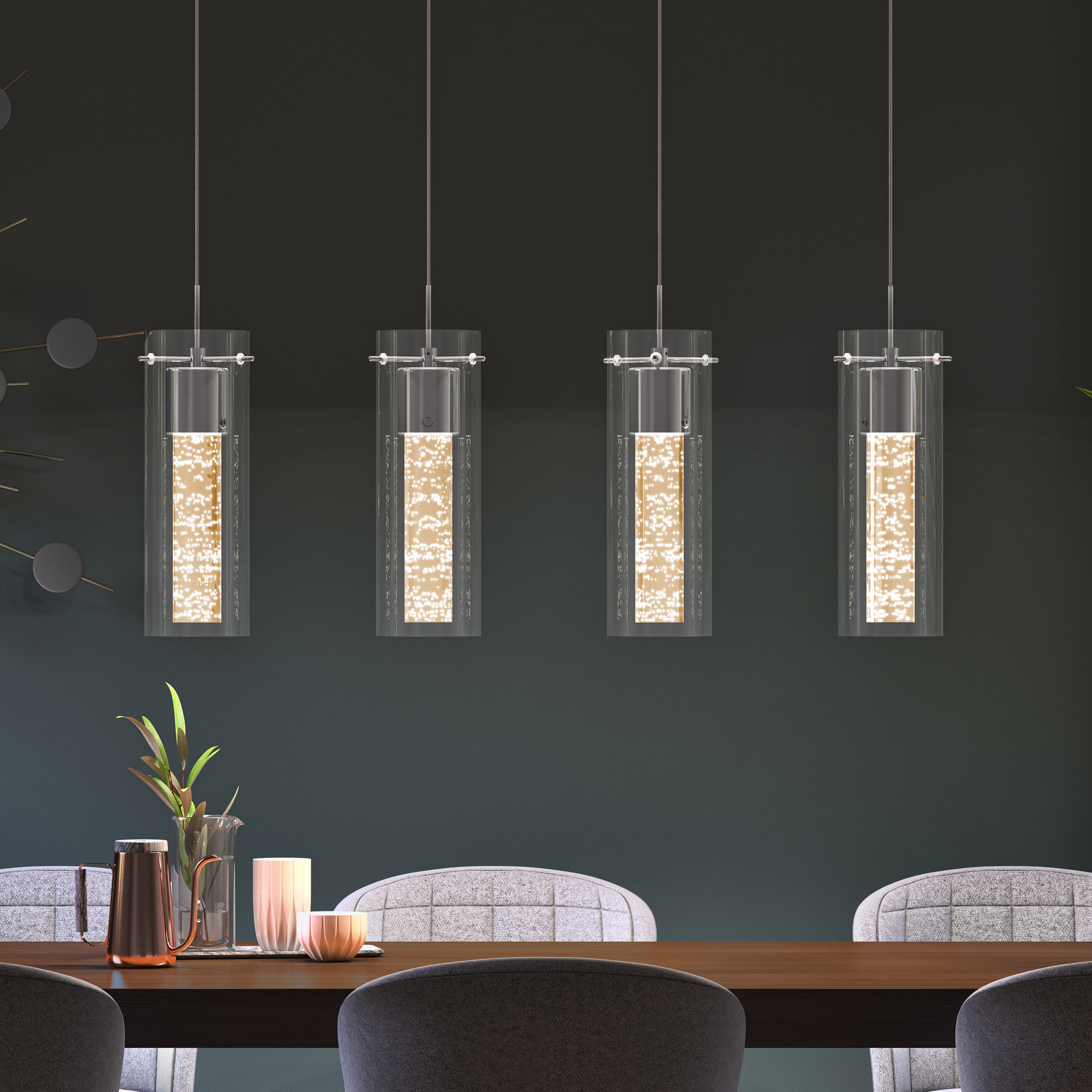 Best And Newest Zachery 4 Light Led Kitchen Island Cylinder Pendant With Regard To Schutt 1 Light Cylinder Pendants (View 9 of 25)