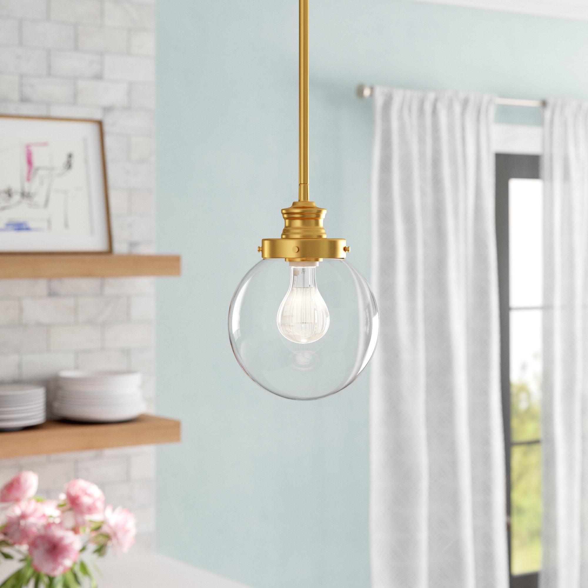Betsy 1-Light Single Globe Pendants intended for Trendy Cayden 1-Light Single Globe Pendant