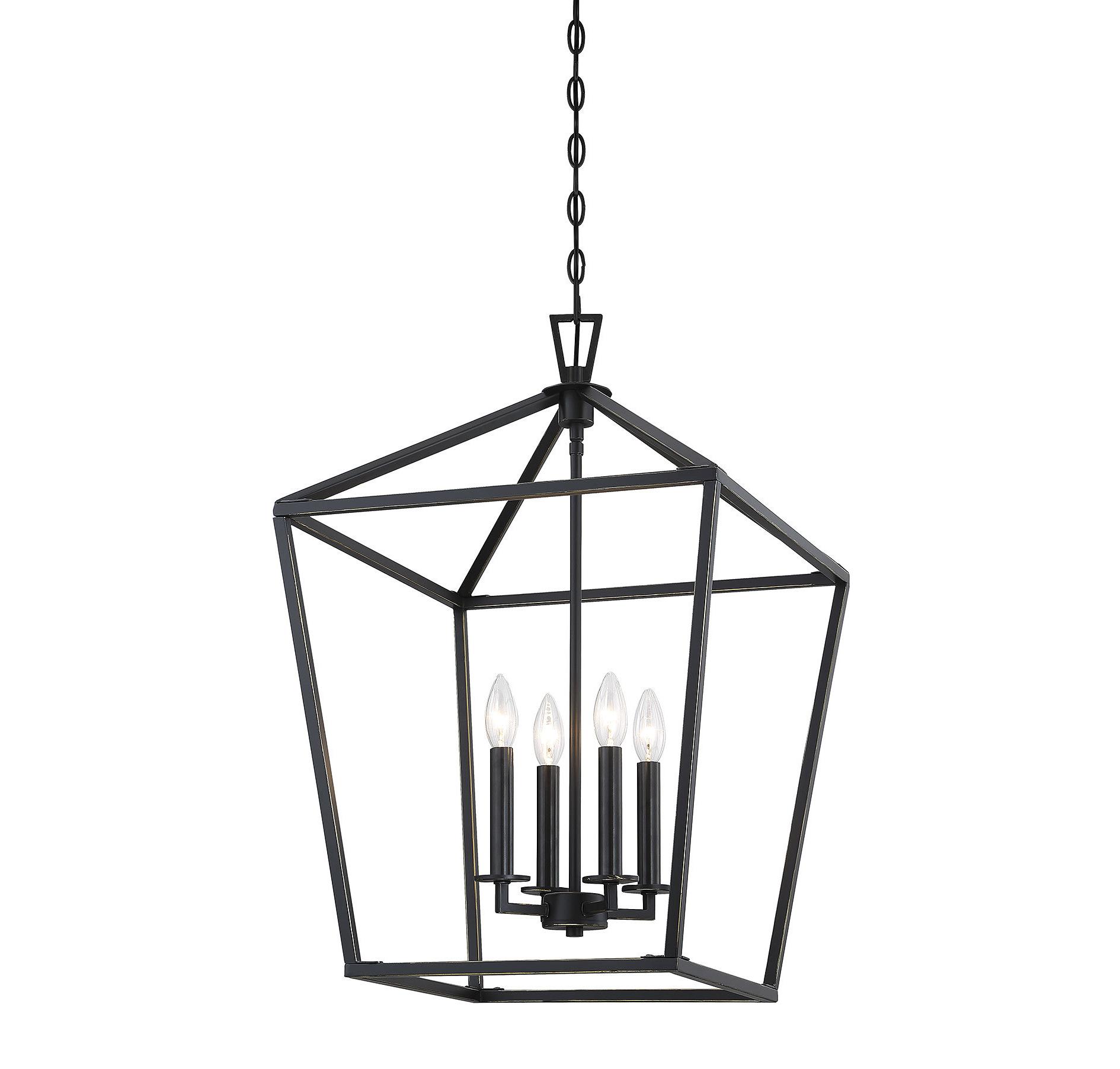 Birch Lane for Famous Leiters 3-Light Lantern Geometric Pendants