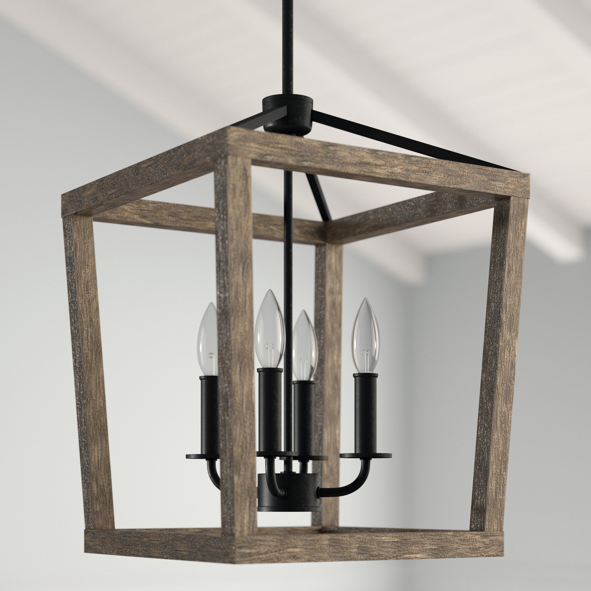 Birch Lane™ Heritage Natarsha 4 Light Lantern Geometric Pendant Within Most Up To Date Louanne 3 Light Lantern Geometric Pendants (View 20 of 25)