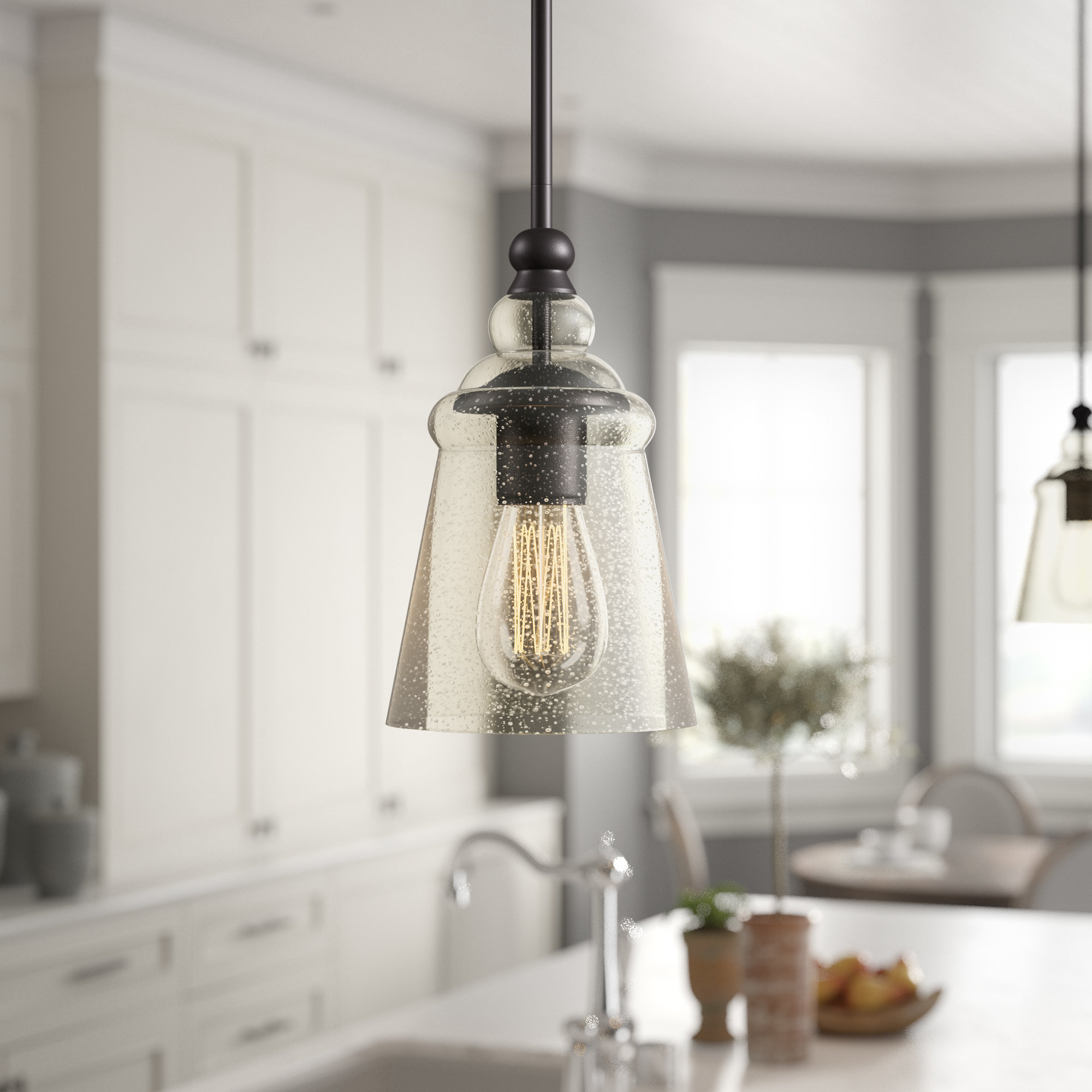 Birch Lane™ Heritage Sargent 1-Light Bell Pendant within Widely used Wentzville 1-Light Single Bell Pendants