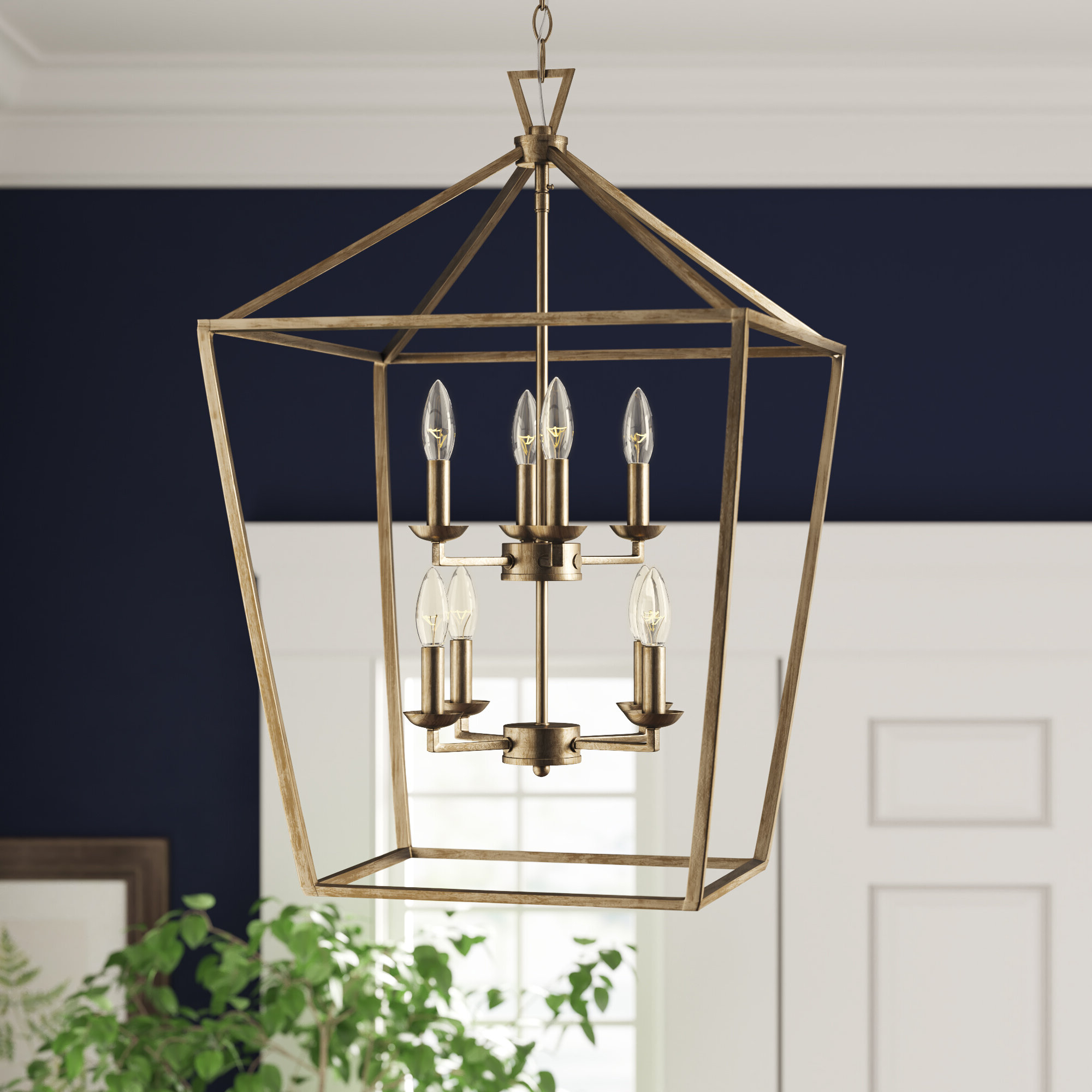 Birch Lane Intended For Famous Leiters 3 Light Lantern Geometric Pendants (View 18 of 25)