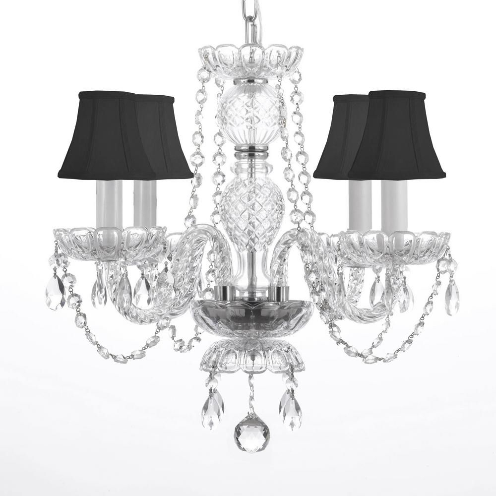 Blanchette 5-Light Candle Style Chandeliers for Most Recent Charles Serouya & Son 4-Light Venetian Style Empress Crystal