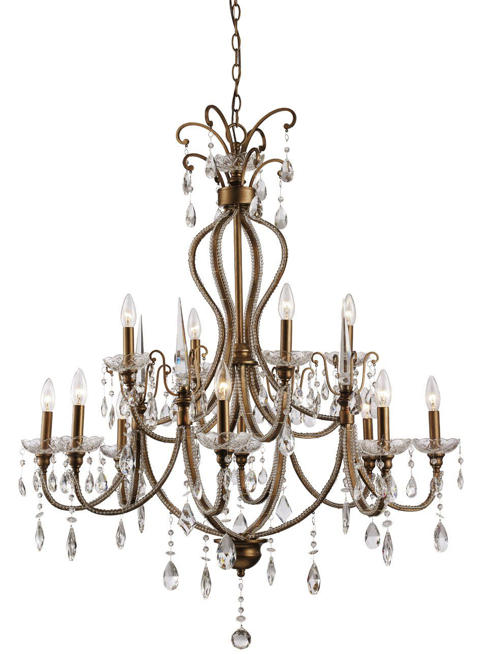 Blandford 12 Light Candle Style Chandelier (View 12 of 25)