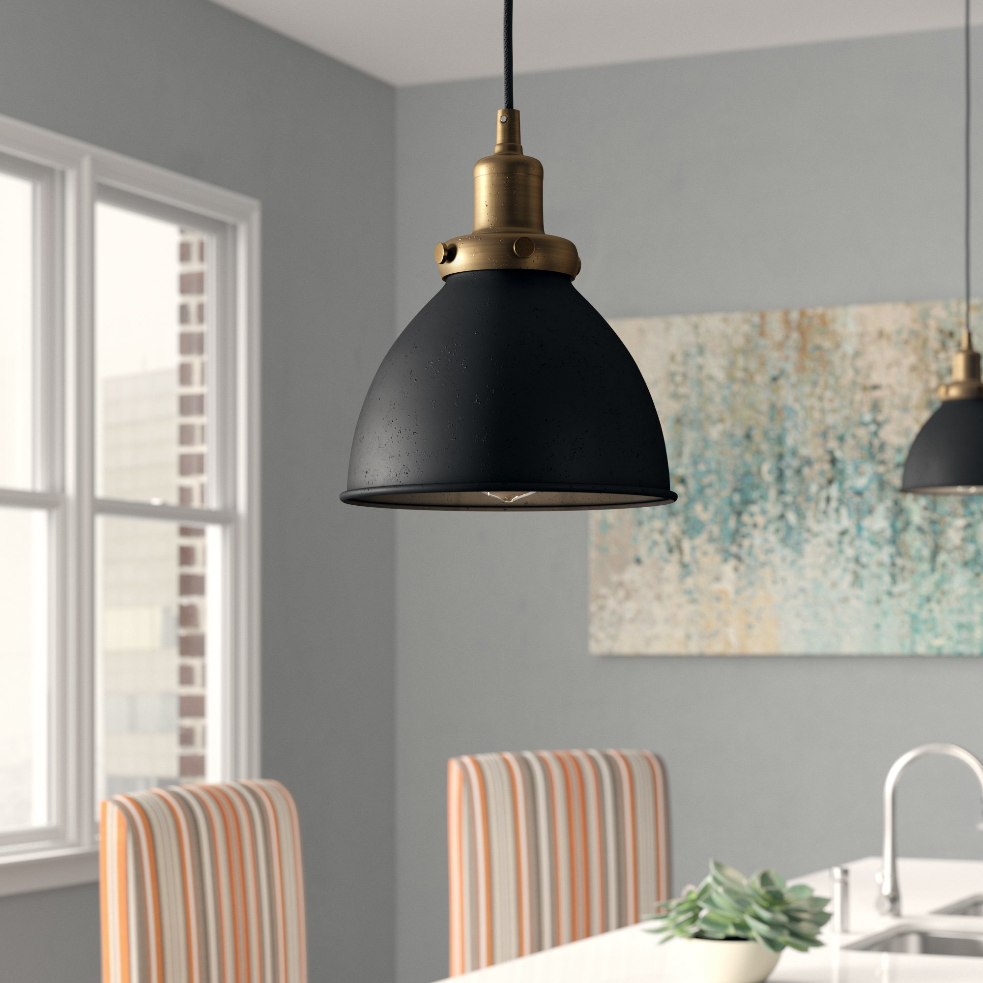 Bodie 1 Light Bell Pendant With Regard To Widely Used Abernathy 1 Light Dome Pendants (View 9 of 25)