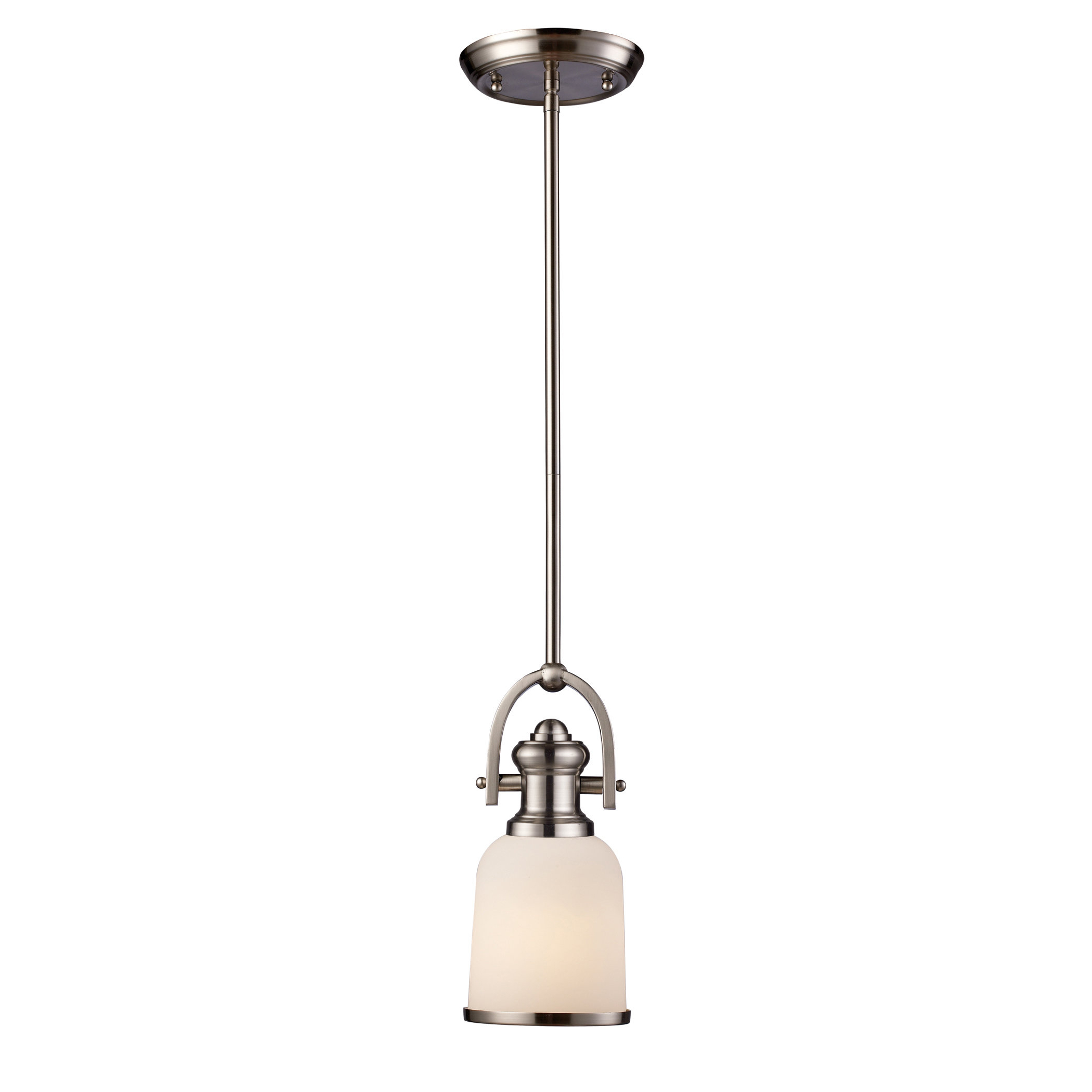 Boornazian 1-Light Cone Pendant with Trendy Grullon Scroll 1-Light Single Bell Pendants