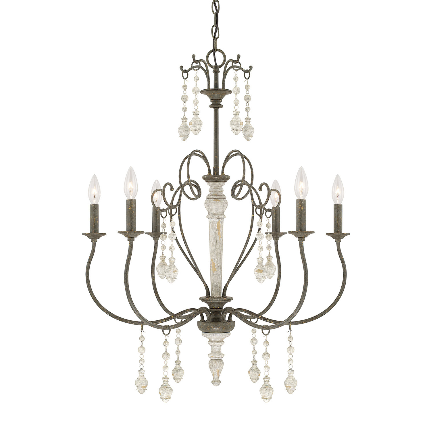 Bouchette Traditional 6-Light Candle Style Chandelier in Newest Bouchette Traditional 6-Light Candle Style Chandeliers