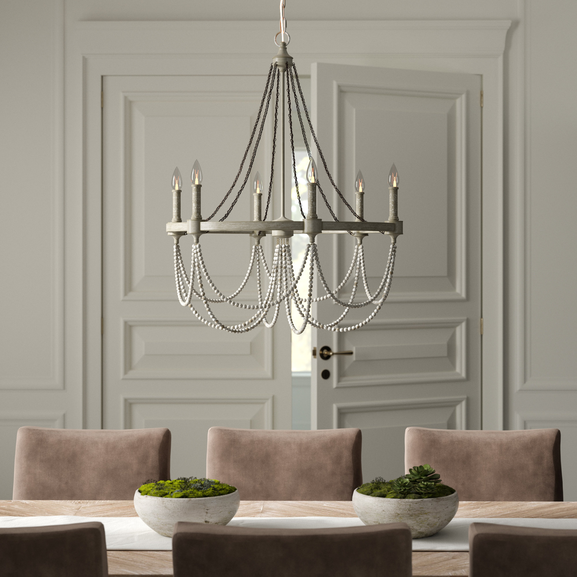 Bouchette Traditional 6-Light Candle Style Chandeliers for Well known Greyleigh Alliance 6-Light Candle Style Chandelier