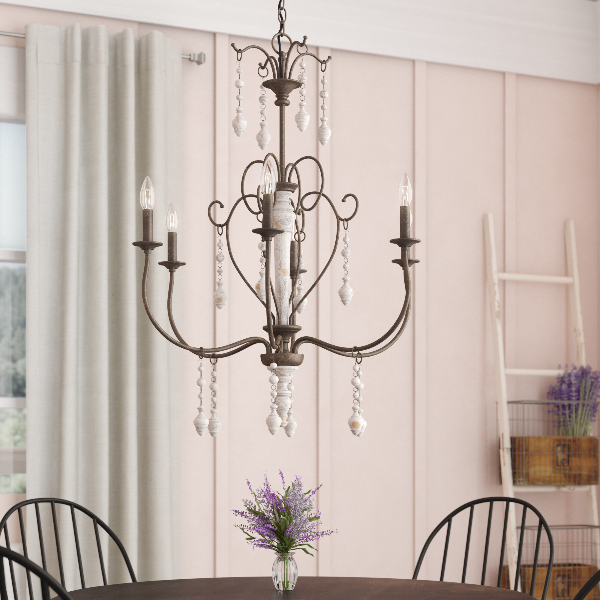 Bouchette Traditional 6-Light Candle Style Chandeliers in 2020 Lark Manor Bouchette Traditional 6-Light Candle Style