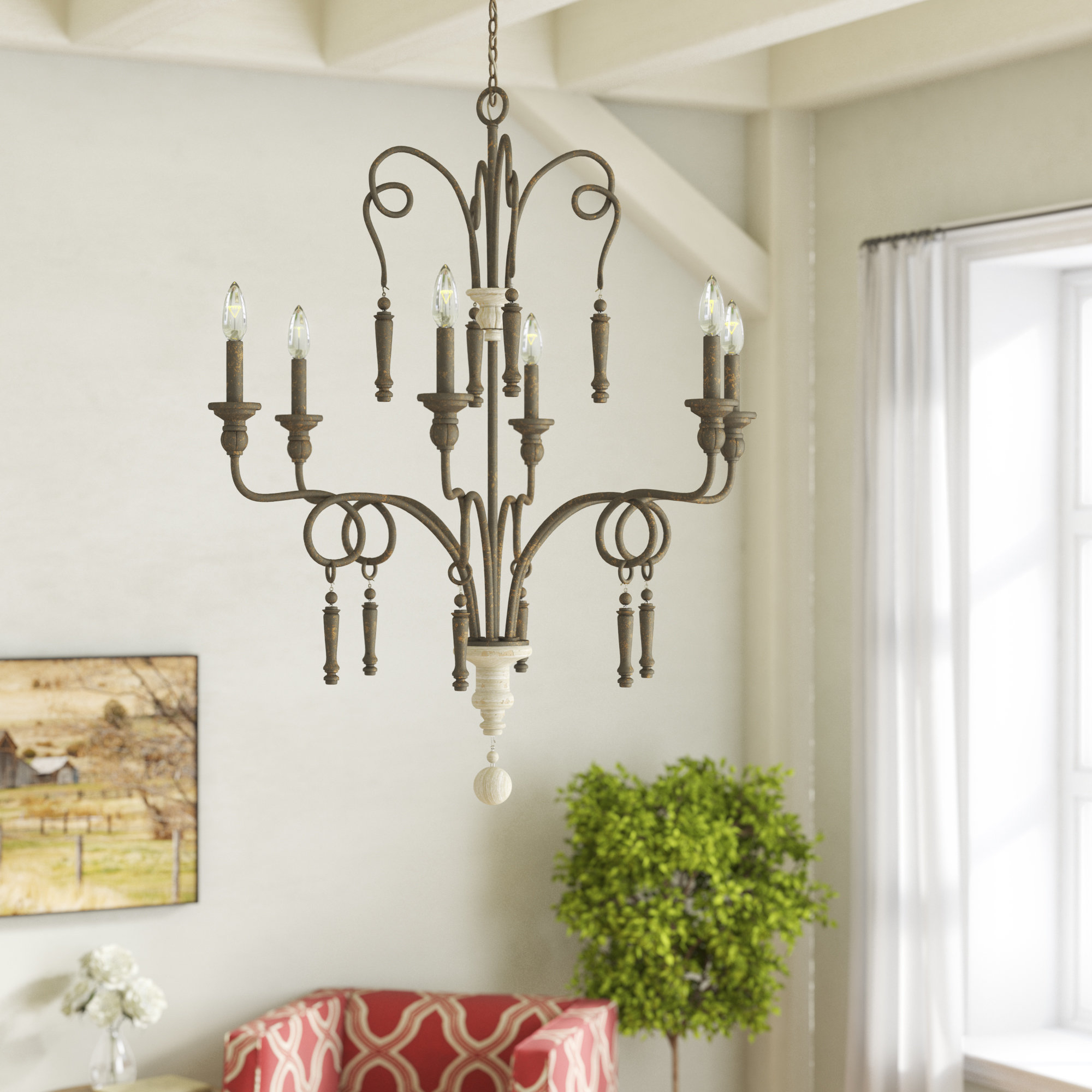Bouchette Traditional 6-Light Candle Style Chandeliers with regard to Recent Bouchette 6-Light Candle Style Chandelier