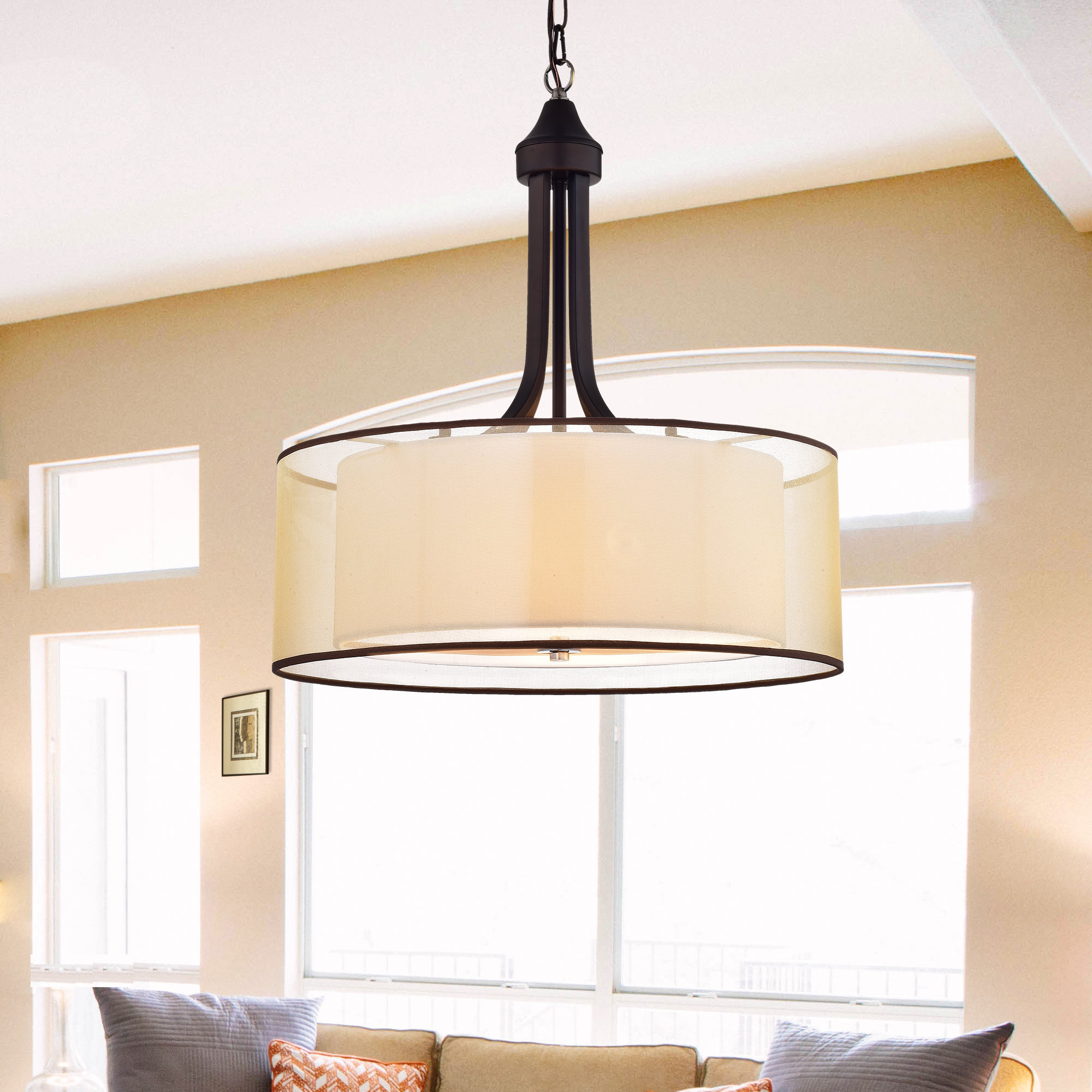 Breithaup 4 Light Drum Chandeliers With Regard To Trendy Corpuz 4 Light Drum Chandelier (View 18 of 25)