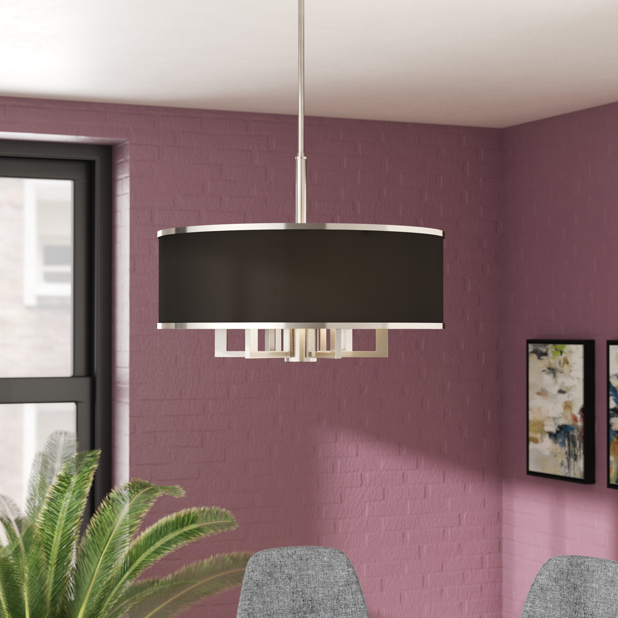 Breithaup 7-Light Drum Chandelier in Most Popular Breithaup 7-Light Drum Chandeliers