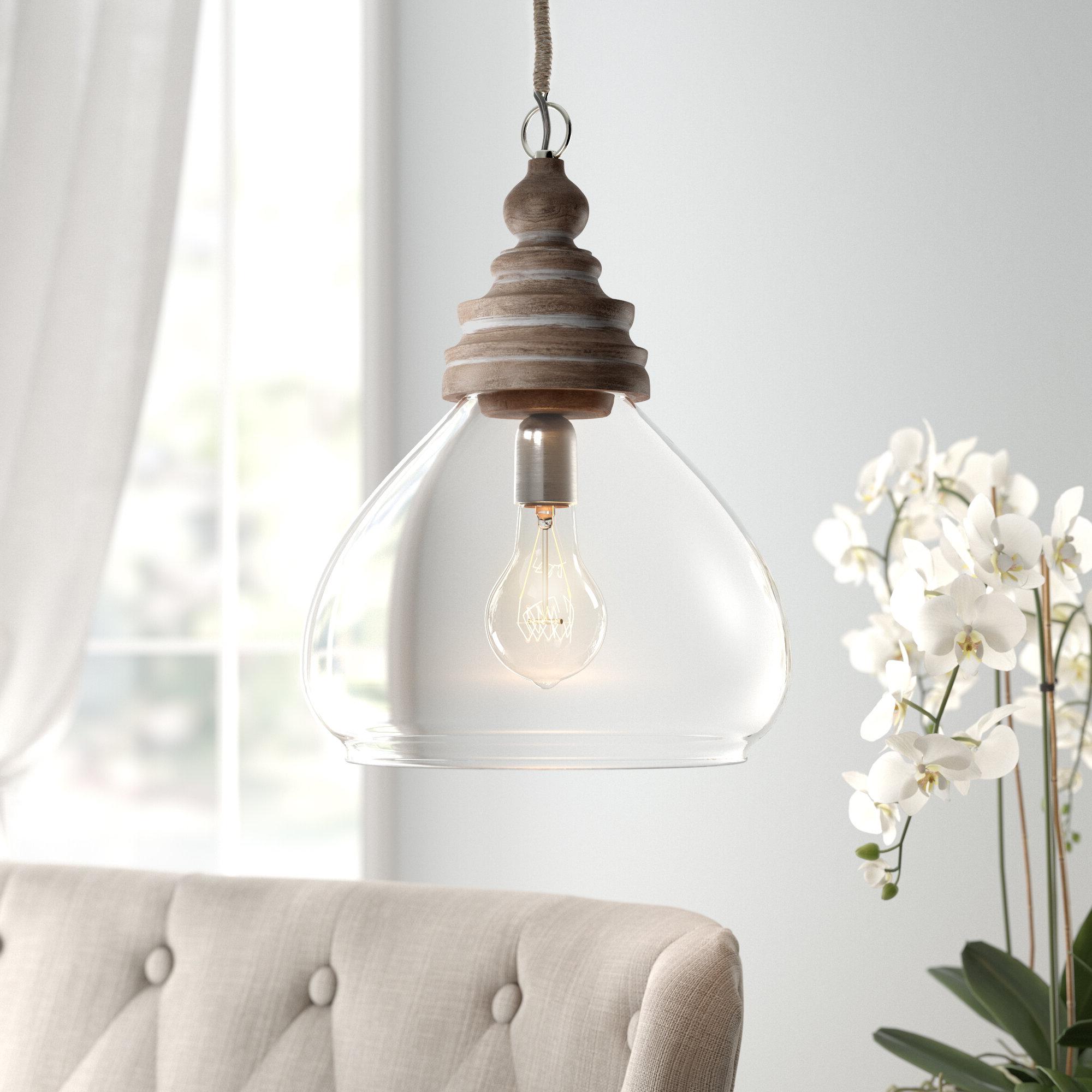 Brisa 1-Light Single Dome Pendant regarding Best and Newest Abordale 1-Light Single Dome Pendants