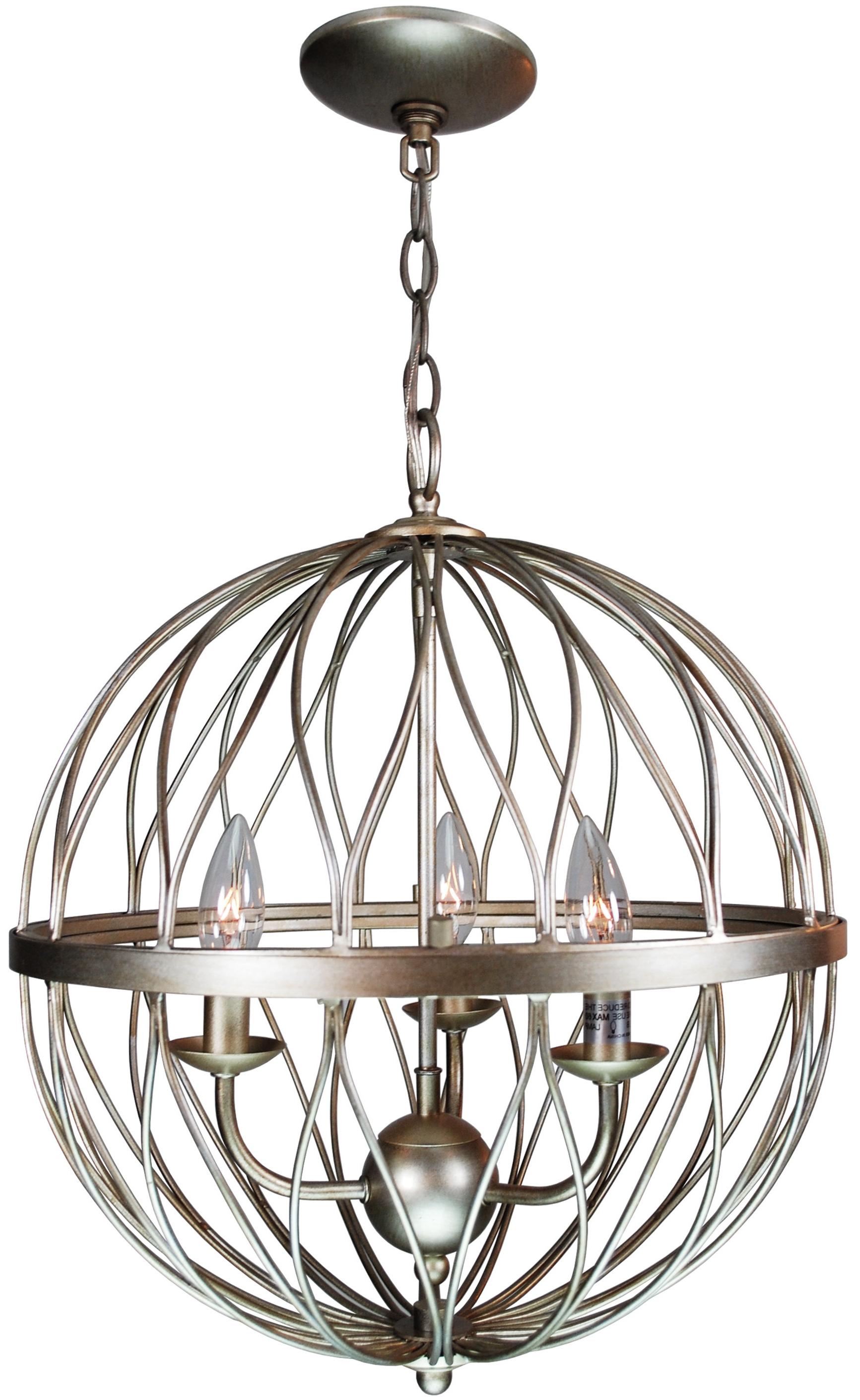 Brittain 3 Light Globe Chandelier Throughout Newest Farrier 3 Light Lantern Drum Pendants (View 16 of 25)