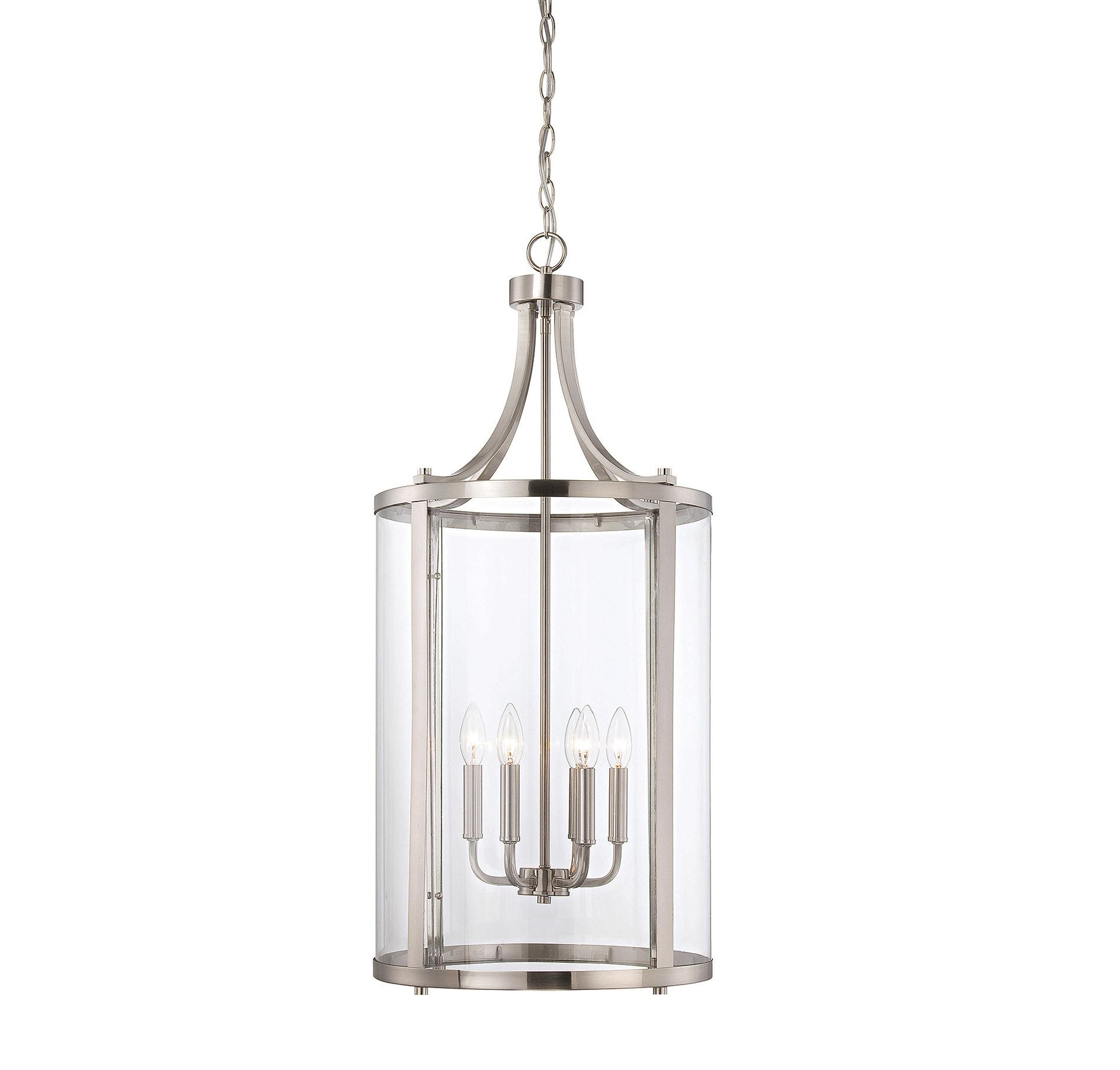 Brookville 6 Light Lantern Cylinder Pendant For Most Popular Armande 3 Light Lantern Geometric Pendants (View 13 of 25)